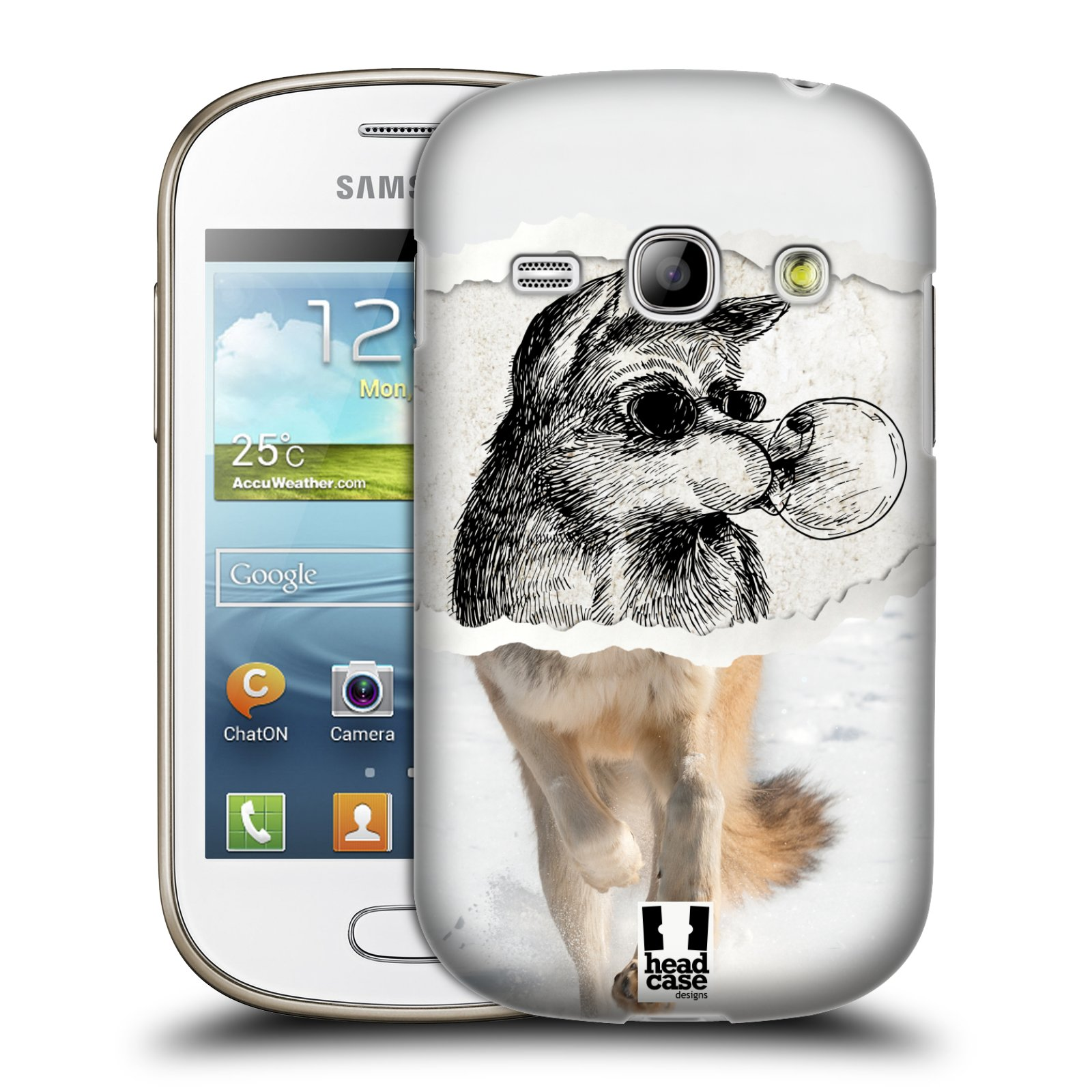 HEAD CASE plastový obal na mobil SAMSUNG GALAXY FAME (S6810) vzor zvířata koláž vlk pohodář