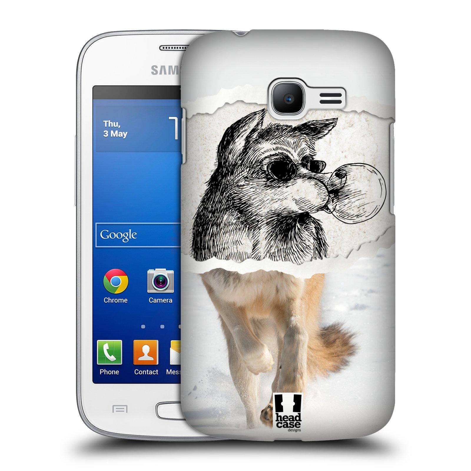 HEAD CASE plastový obal na mobil SAMSUNG GALAXY Star Pro S7260/S7262 DUOS vzor zvířata koláž vlk pohodář