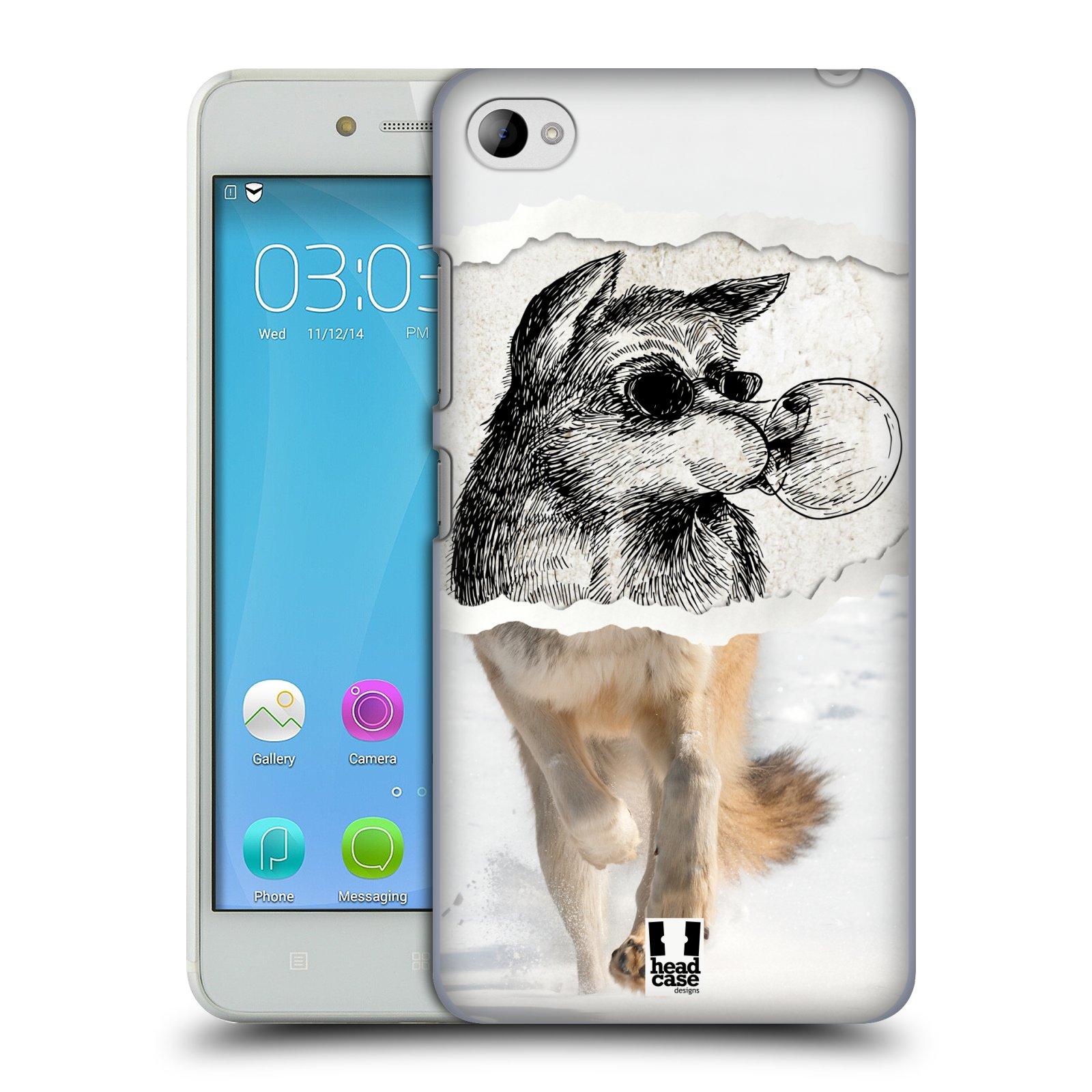 HEAD CASE pevný plastový obal na mobil LENOVO S90 vzor zvířata koláž vlk pohodář