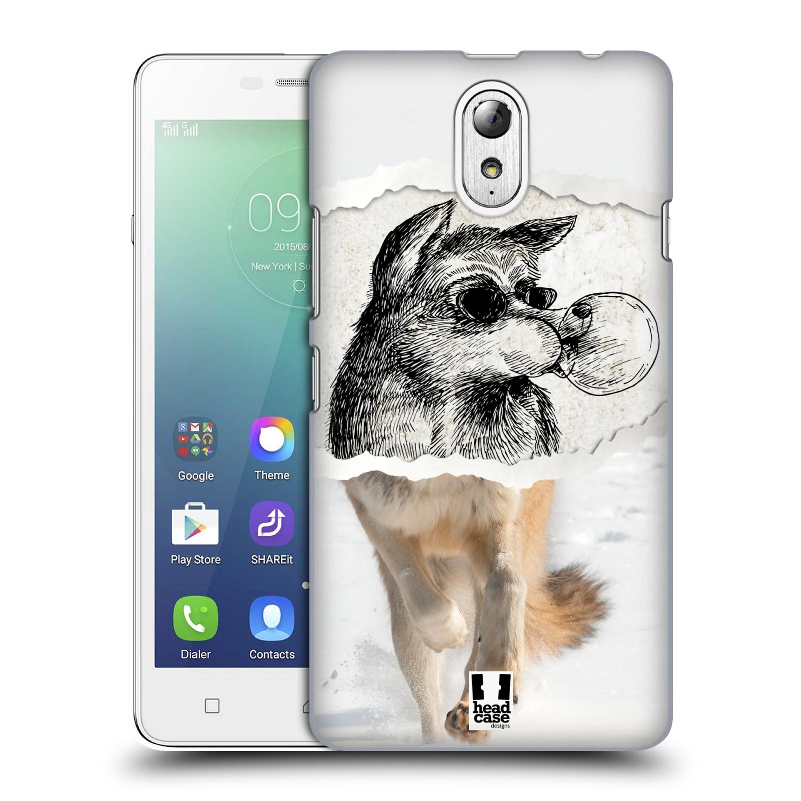 HEAD CASE pevný plastový obal na mobil LENOVO VIBE P1m / LENOVO VIBE p1m DUAL SIM vzor zvířata koláž vlk pohodář