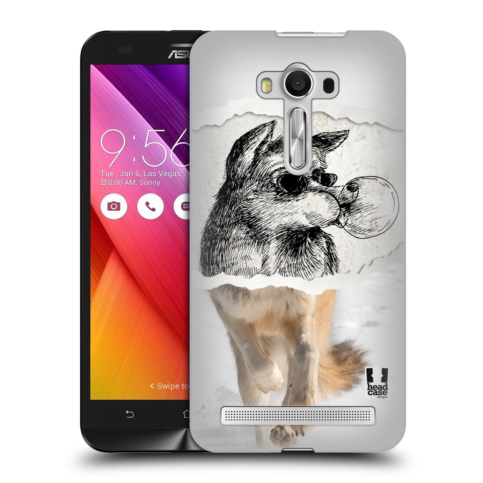 HEAD CASE plastový obal na mobil Asus Zenfone 2 LASER (5,5 displej ZE550KL) vzor zvířata koláž vlk pohodář