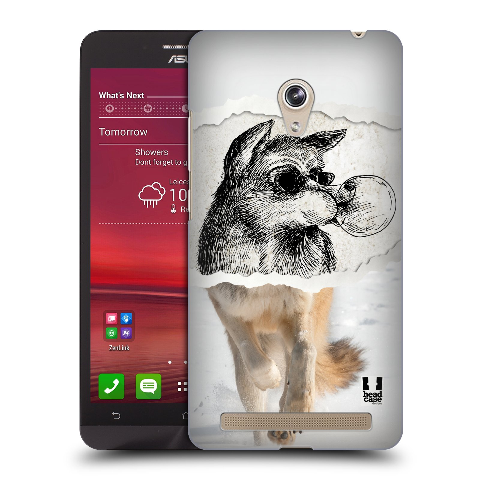 HEAD CASE plastový obal na mobil Asus Zenfone 6 vzor zvířata koláž vlk pohodář