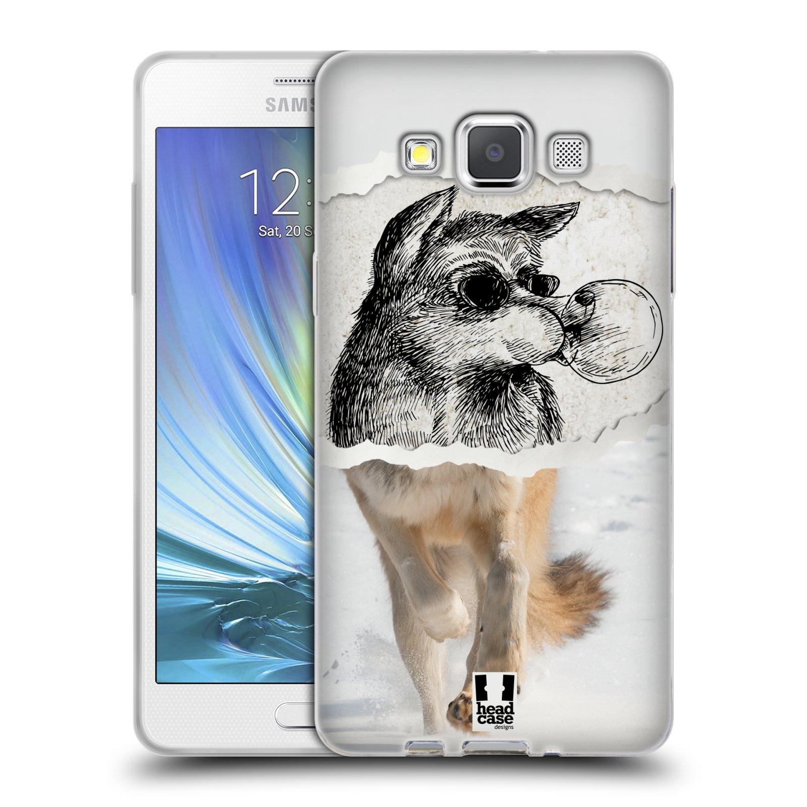 HEAD CASE silikonový obal na mobil Samsung Galaxy A5 vzor zvířata koláž vlk pohodář