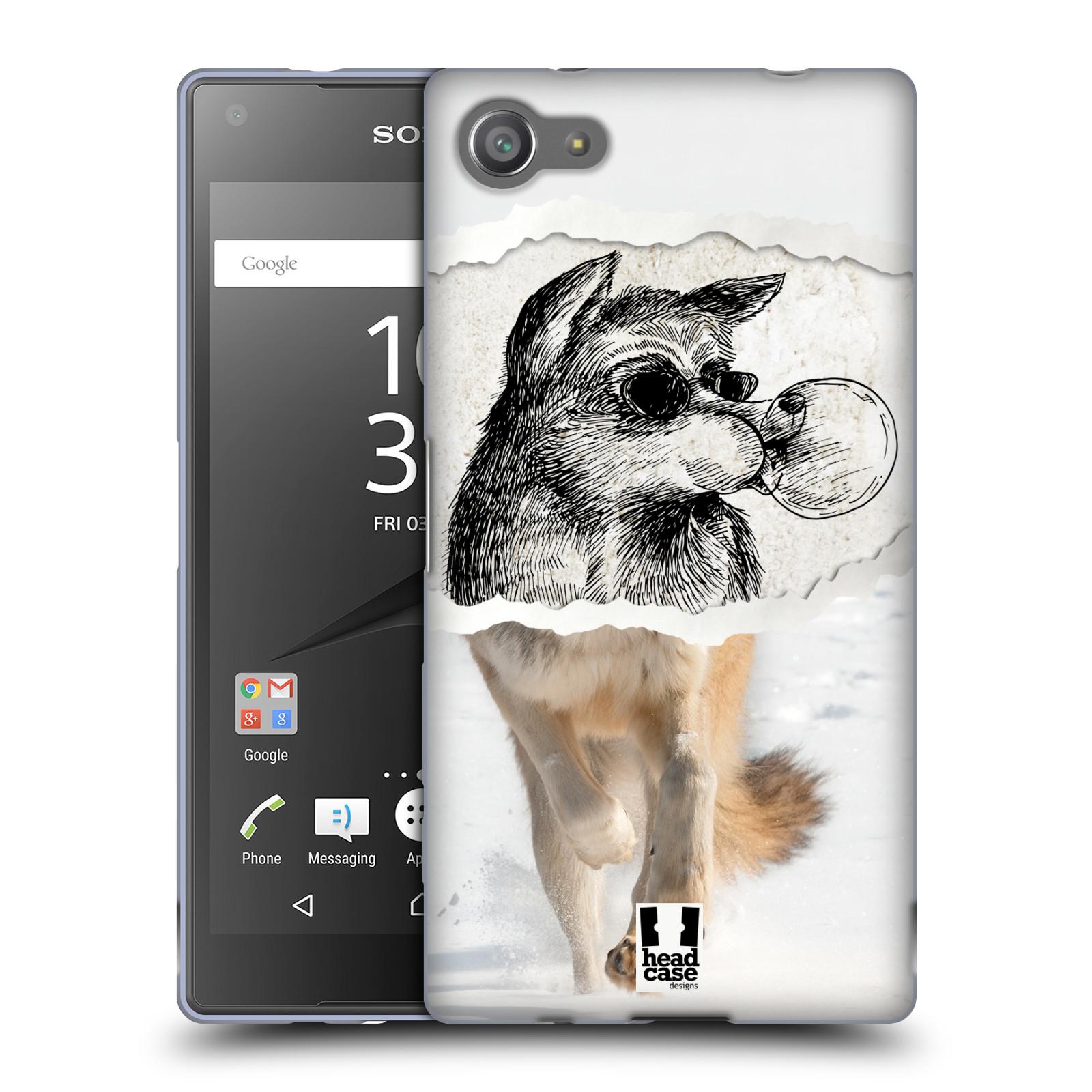 HEAD CASE silikonový obal na mobil Sony Xperia Z5 COMPACT vzor zvířata koláž vlk pohodář
