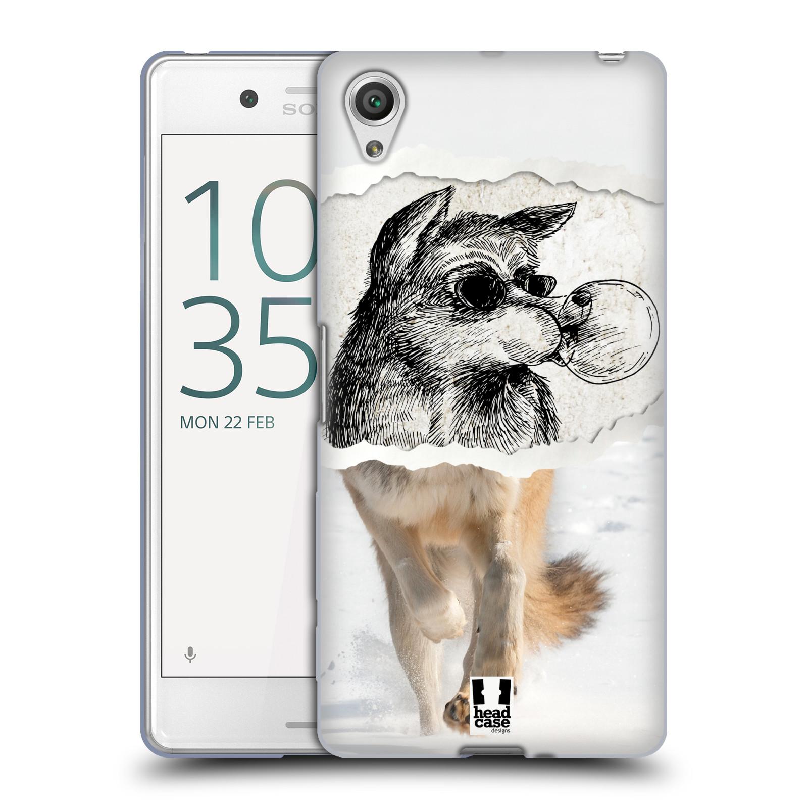 HEAD CASE silikonový obal na mobil Sony Xperia X PERFORMANCE (F8131, F8132) vzor zvířata koláž vlk pohodář