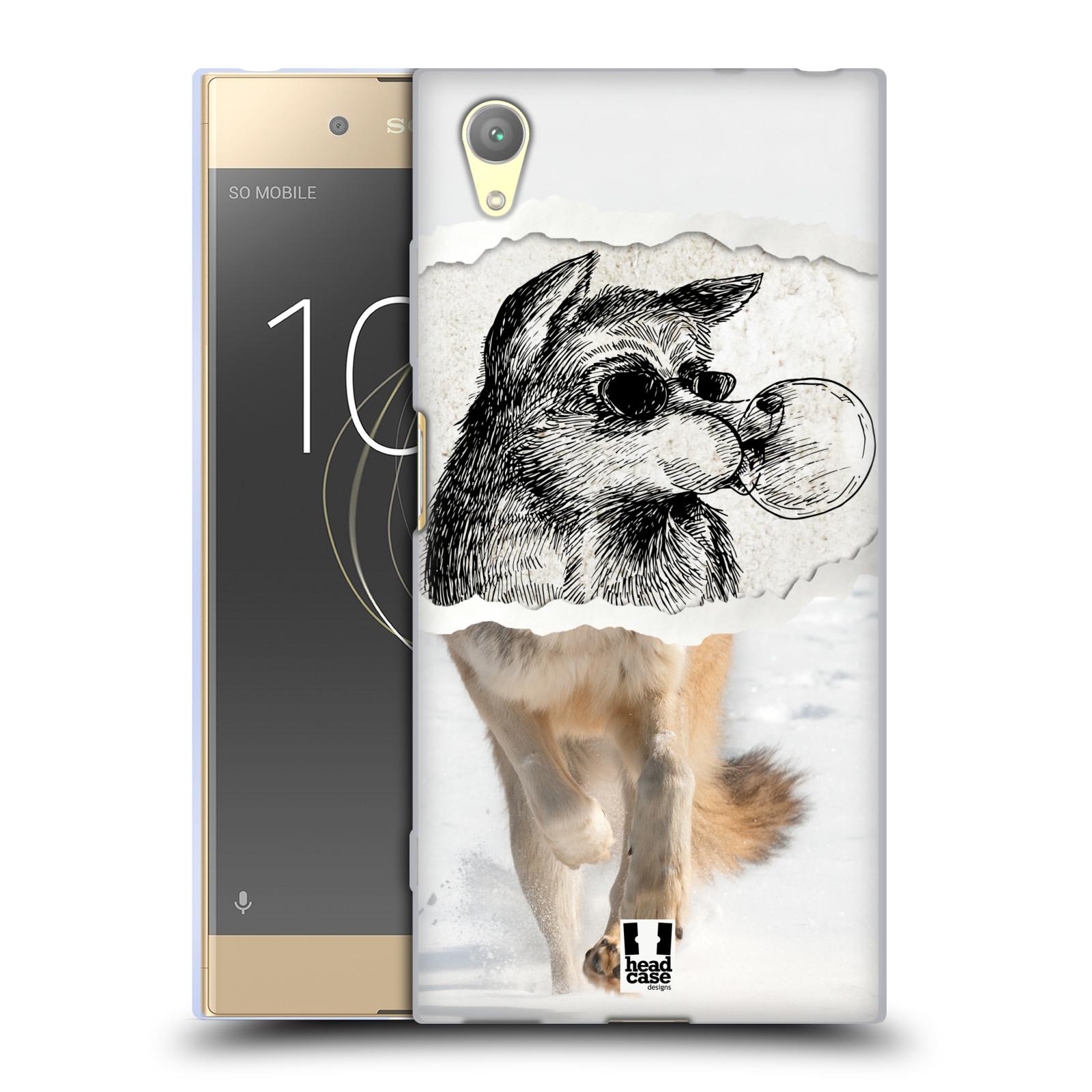 HEAD CASE silikonový obal na mobil Sony Xperia XA1 PLUS vzor zvířata koláž vlk pohodář