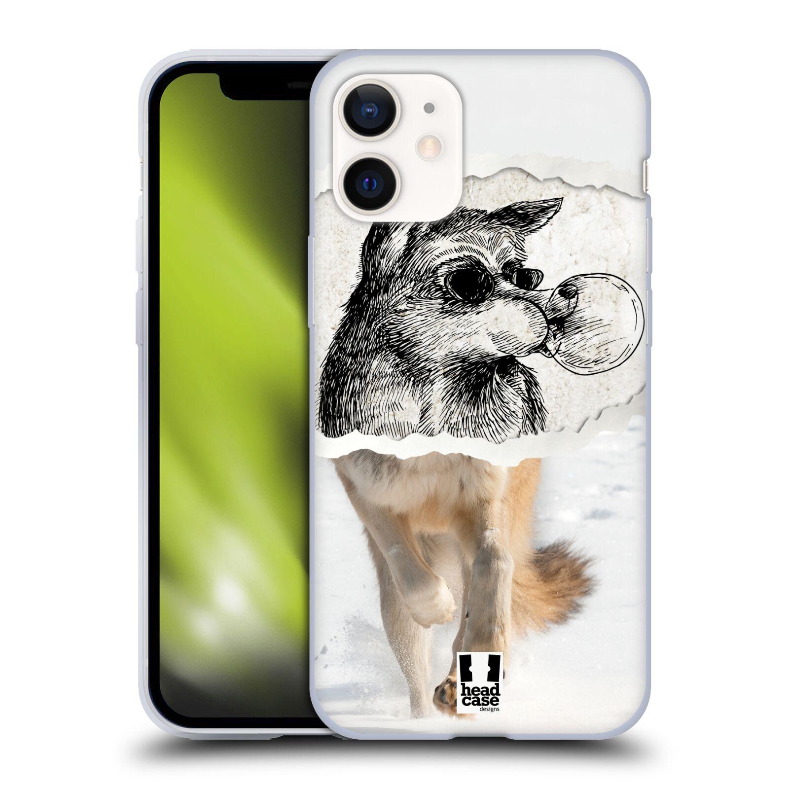 Plastový obal na mobil Apple Iphone 12 MINI vzor zvířata koláž vlk pohodář