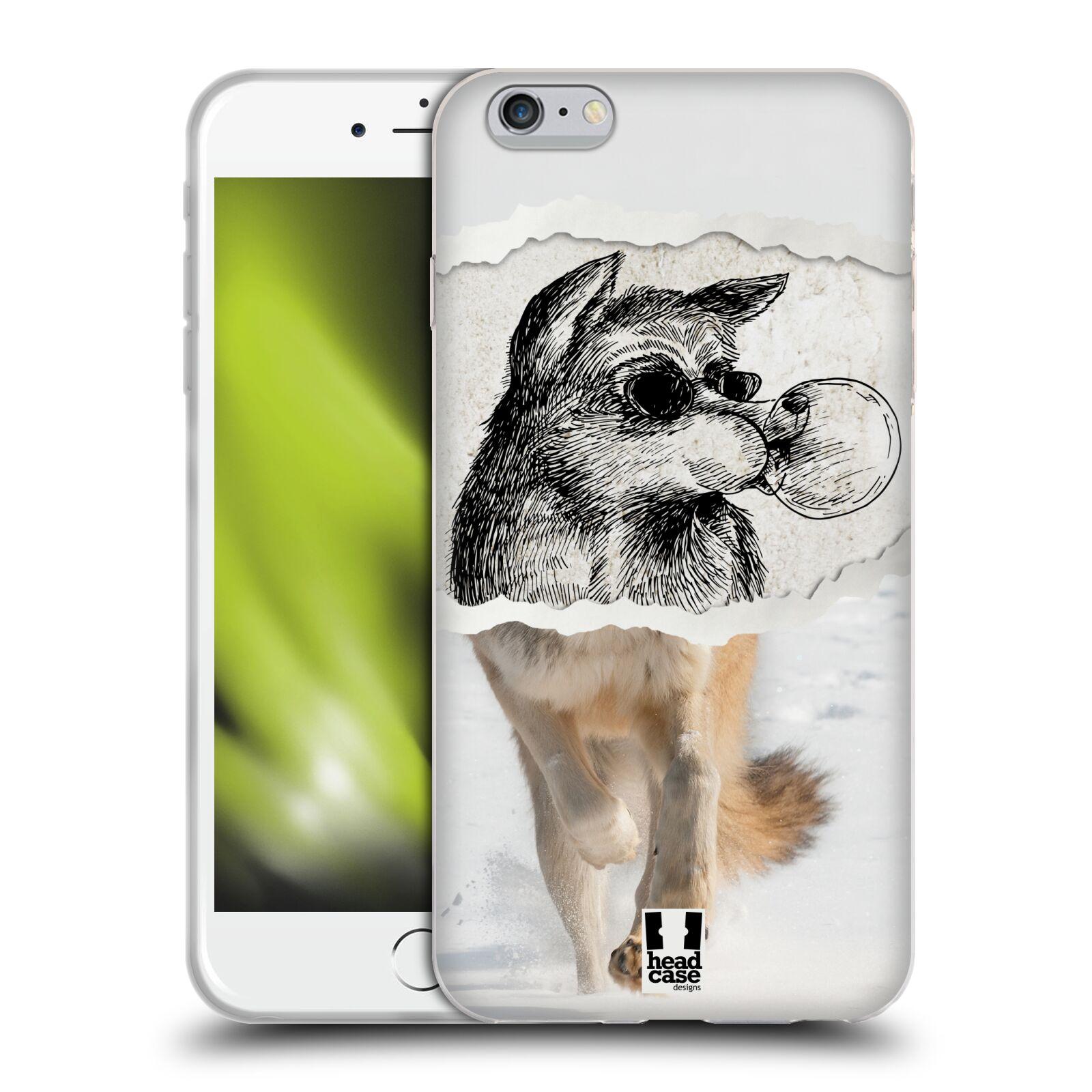 HEAD CASE silikonový obal na mobil Apple Iphone 6 PLUS/ 6S PLUS vzor zvířata koláž vlk pohodář