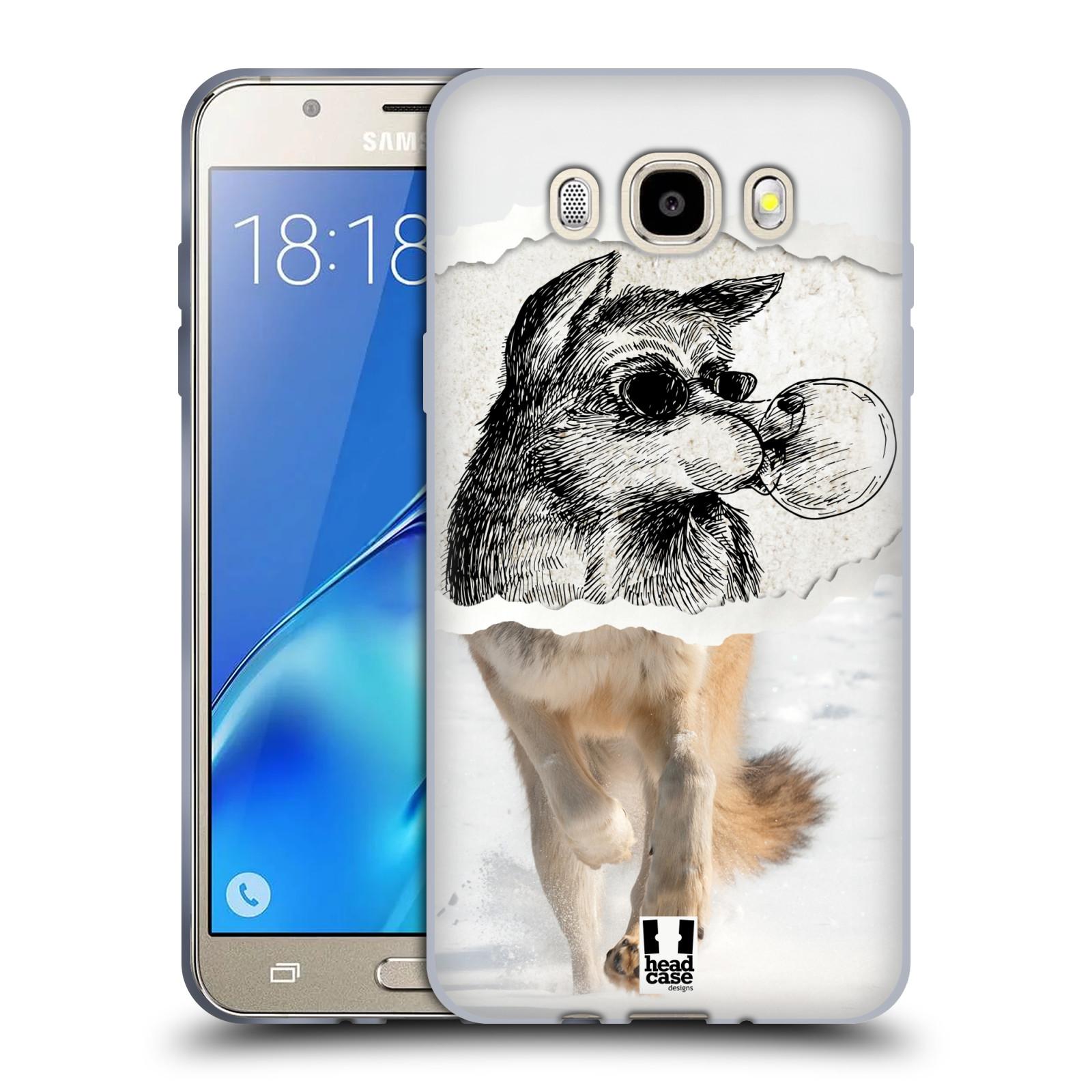 HEAD CASE silikonový obal, kryt na mobil Samsung Galaxy J5 2016, J510, J510F, (J510F DUAL SIM) vzor zvířata koláž vlk pohodář