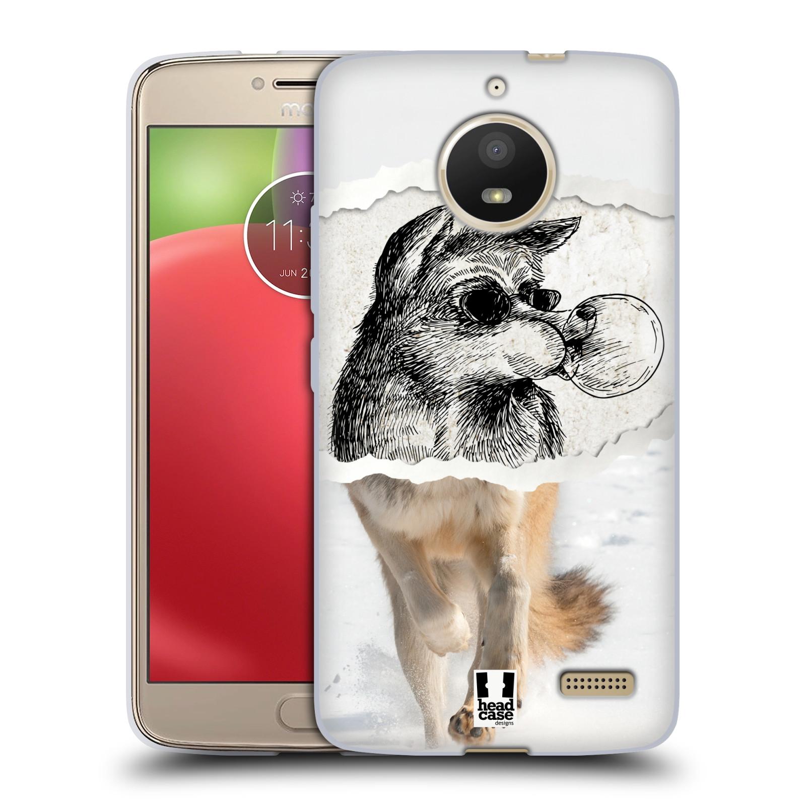 HEAD CASE silikonový obal na mobil Lenovo Moto E4 vzor zvířata koláž vlk  pohodář 1d9d319290a