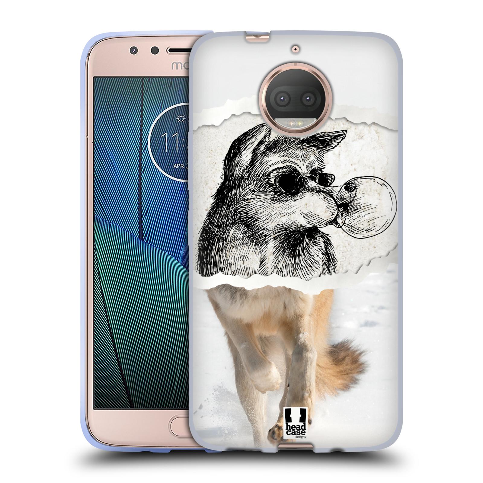 HEAD CASE silikonový obal na mobil Lenovo Moto G5s PLUS vzor zvířata koláž vlk pohodář