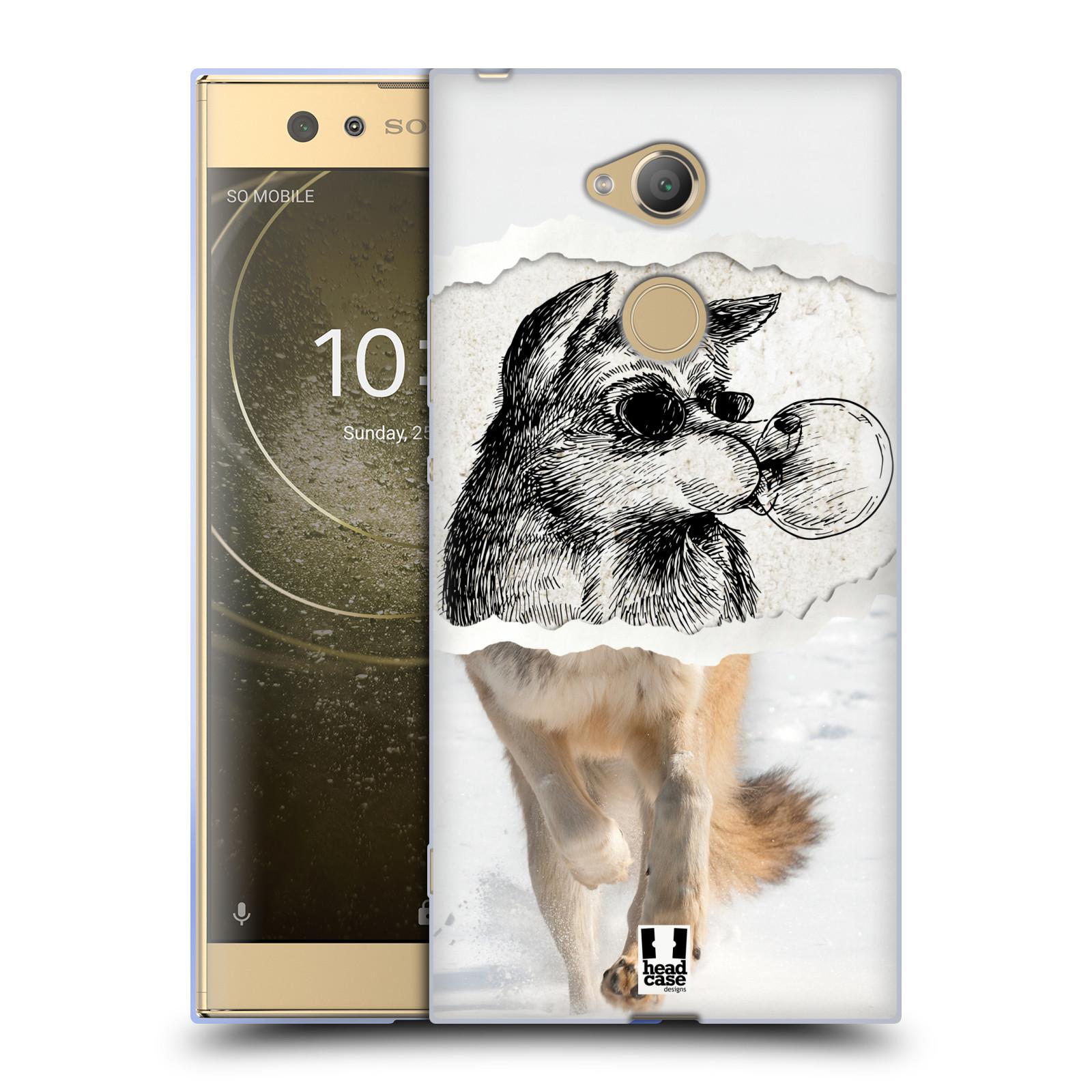 Pouzdro na mobil Sony Xperia XA2 Ultra vzor zvířata koláž vlk pohodář