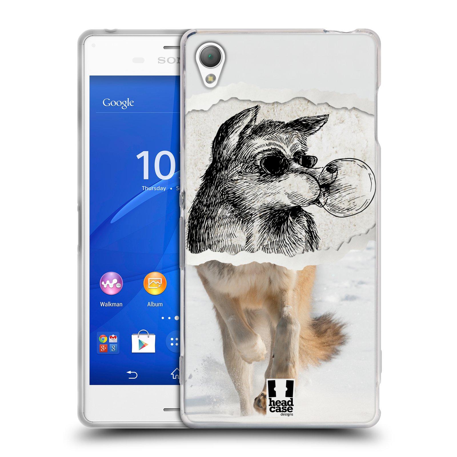 HEAD CASE silikonový obal na mobil Sony Xperia Z3 vzor zvířata koláž vlk pohodář