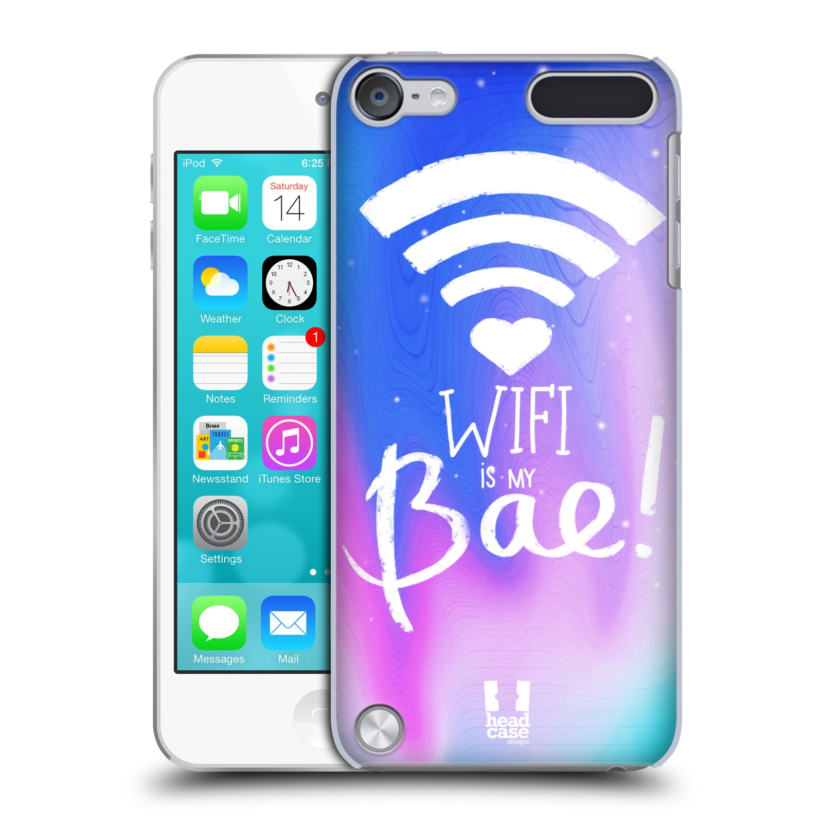 head case designs wifi love hard back case for apple ipod. Black Bedroom Furniture Sets. Home Design Ideas