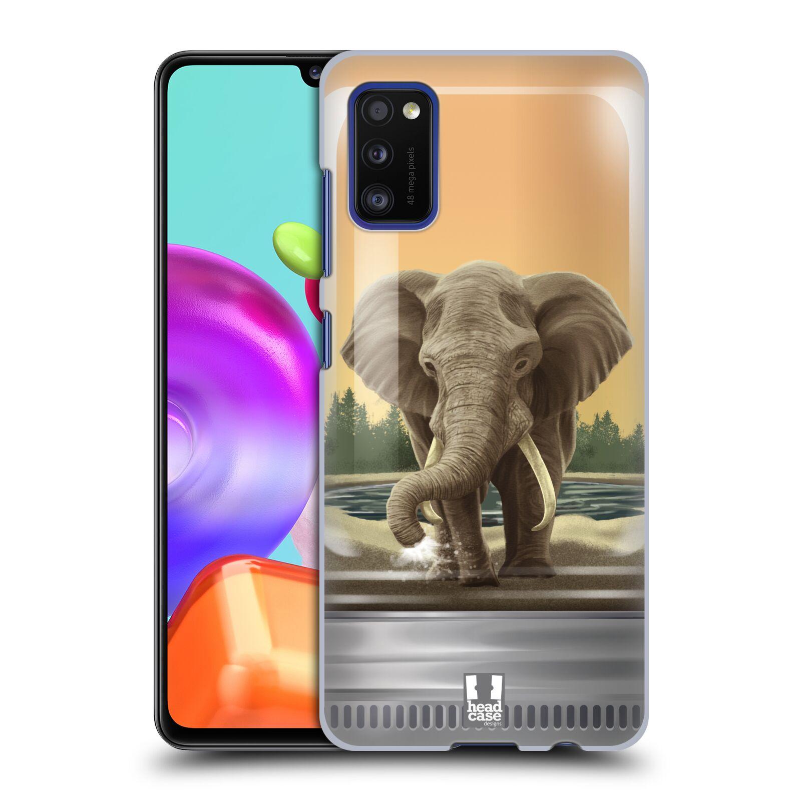 Zadní kryt na mobil Samsung Galaxy A41 vzor Zvířátka v těžítku slon