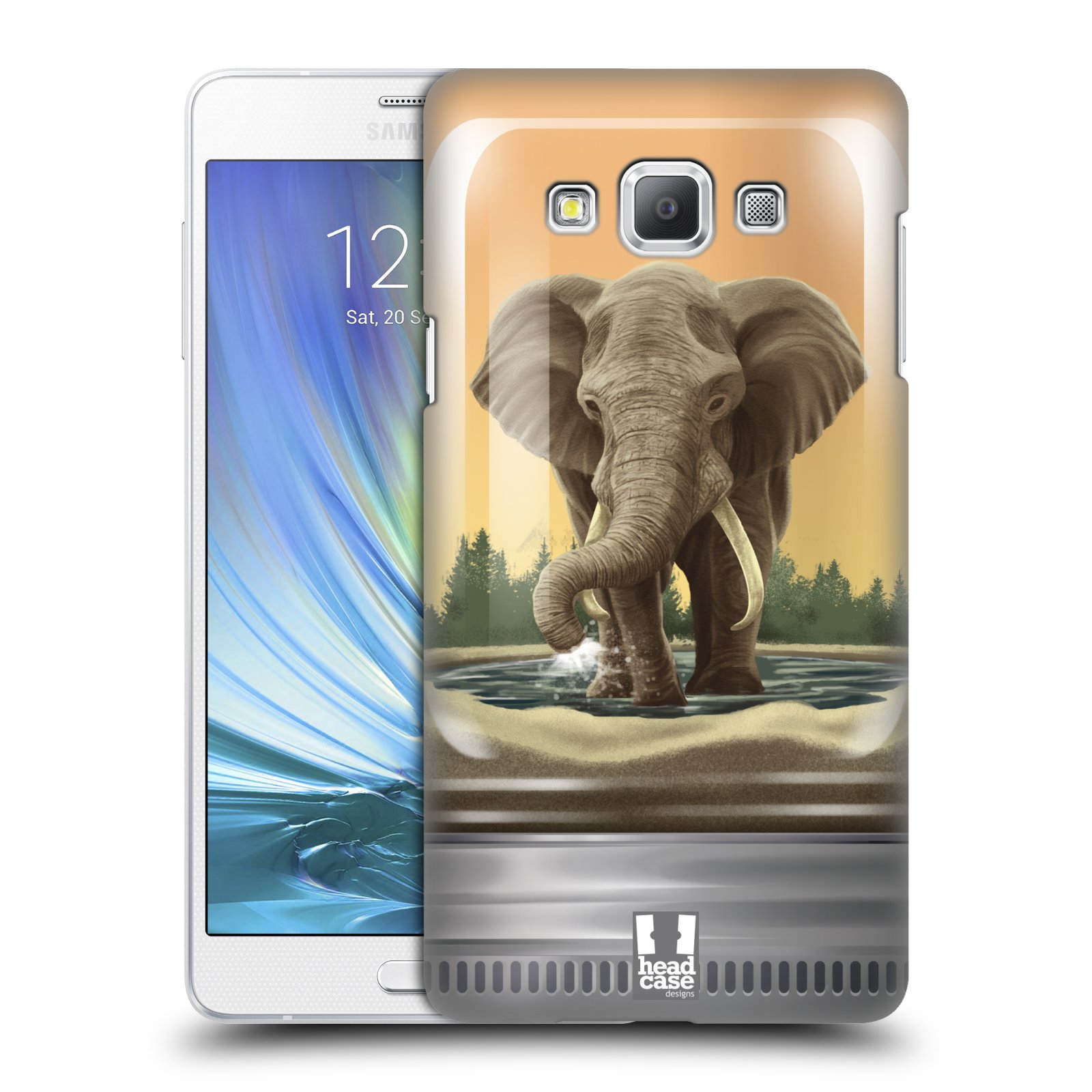 HEAD CASE plastový obal na mobil SAMSUNG GALAXY A7 vzor Zvířátka v těžítku slon