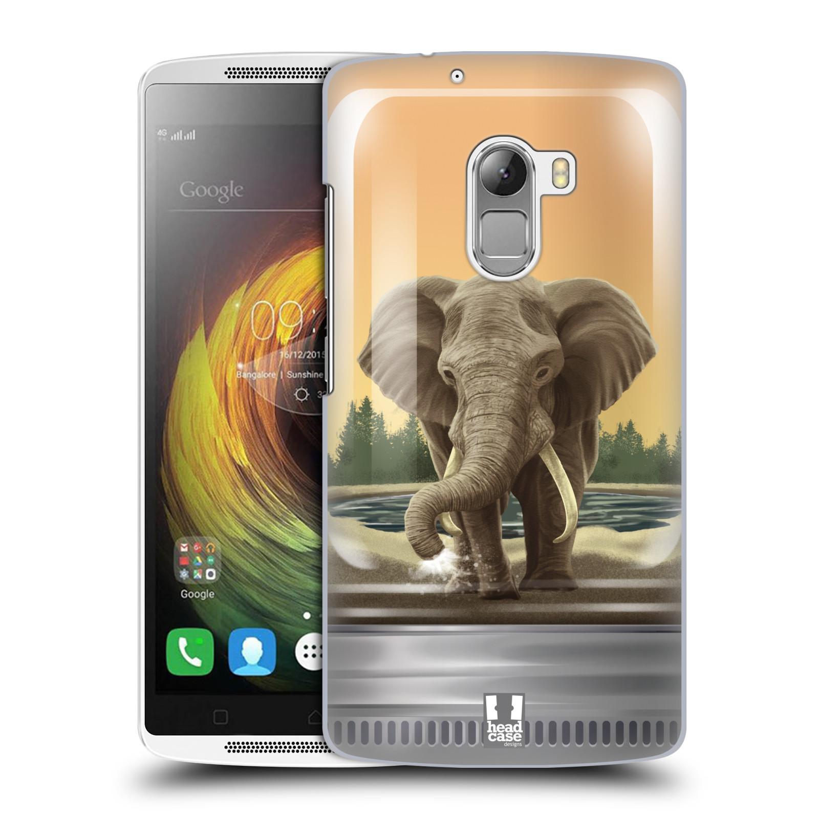 HEAD CASE pevný plastový obal na mobil LENOVO A7010 / A7010 DUAL / K4 Note / Vibe X3 lite vzor Zvířátka v těžítku slon