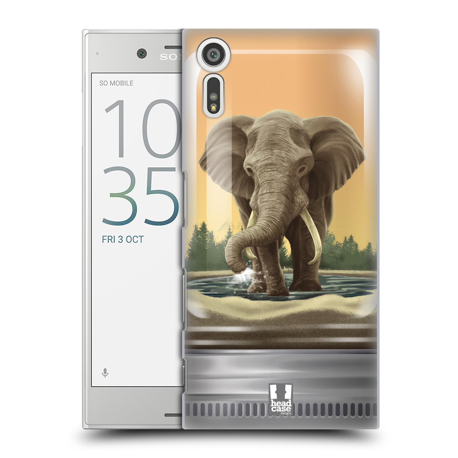 HEAD CASE plastový obal na mobil Sony Xperia XZ vzor Zvířátka v těžítku slon