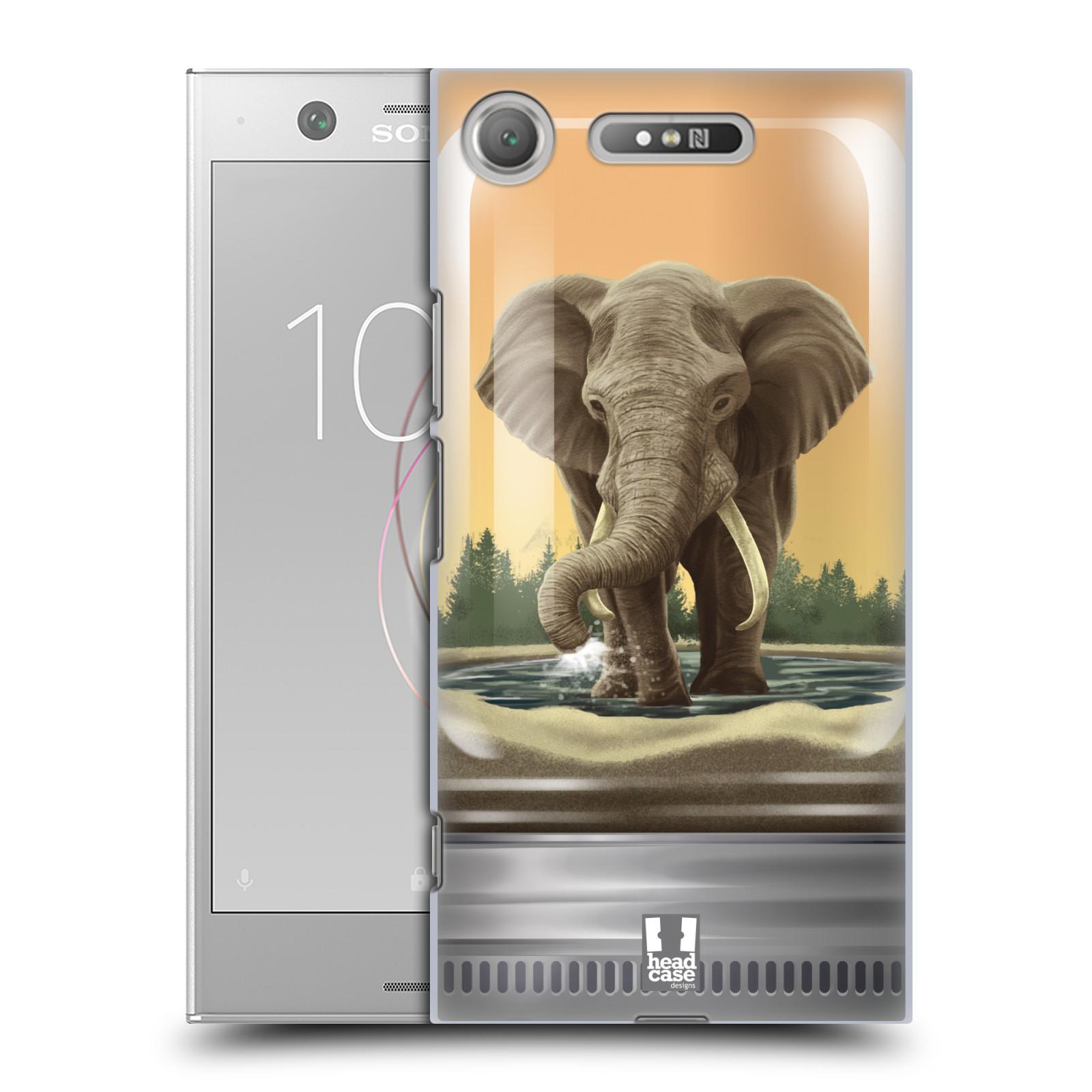 HEAD CASE plastový obal na mobil Sony Xperia XZ1 vzor Zvířátka v těžítku slon