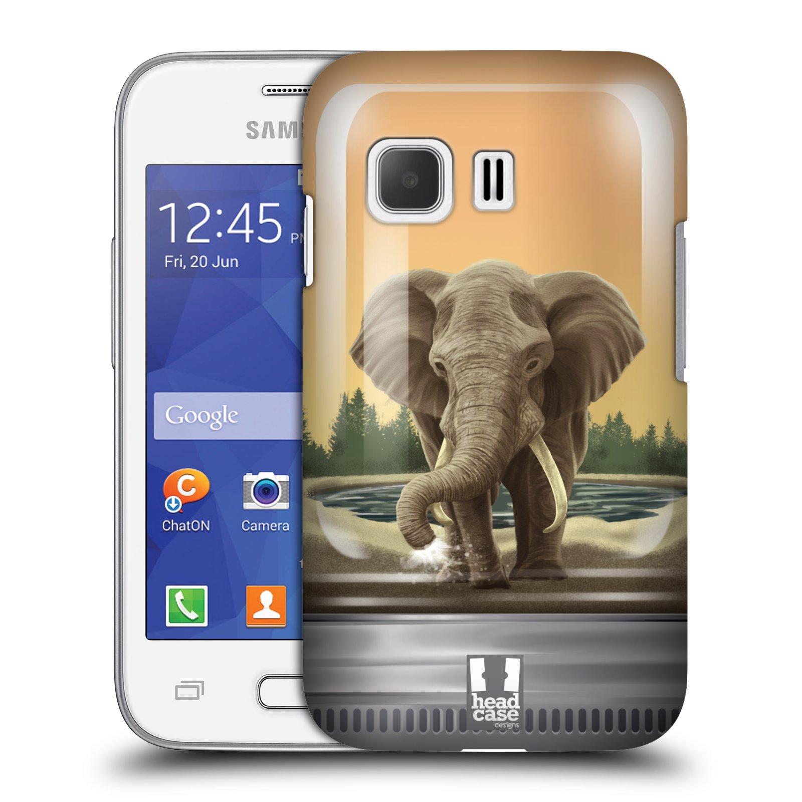 HEAD CASE plastový obal na mobil SAMSUNG Galaxy Young 2 (G130) vzor Zvířátka v těžítku slon