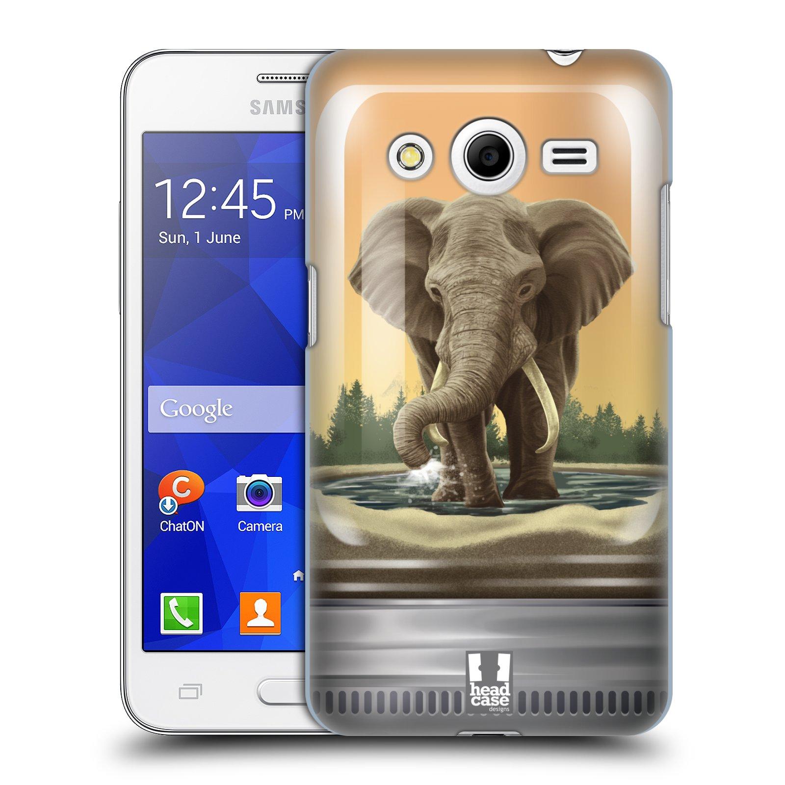HEAD CASE plastový obal na mobil SAMSUNG GALAXY Core 2 (G355H) vzor Zvířátka v těžítku slon