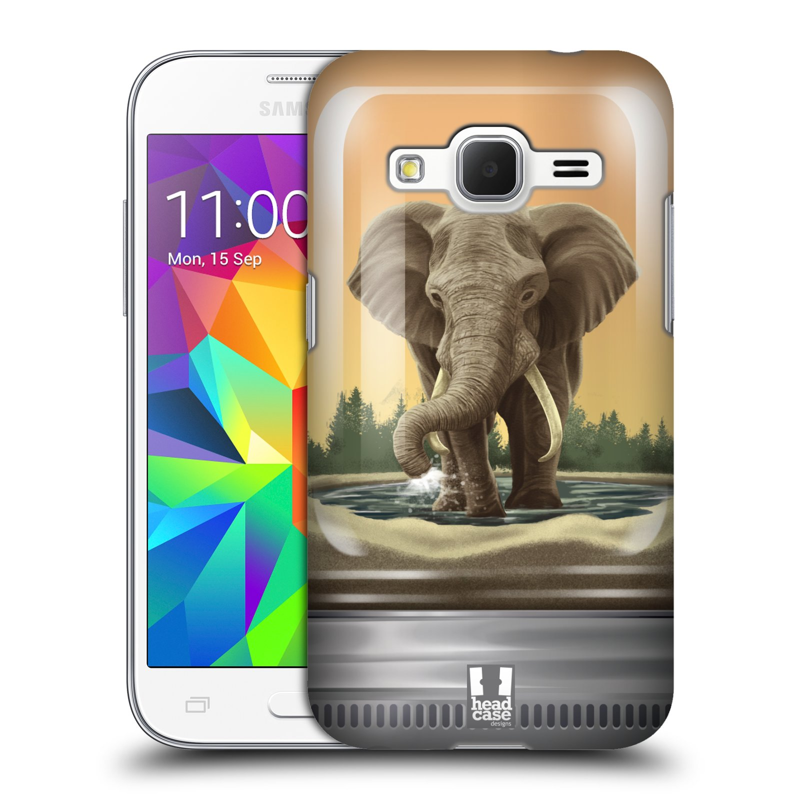HEAD CASE plastový obal na mobil SAMSUNG GALAXY Core Prime (Core Prime VE) vzor Zvířátka v těžítku slon