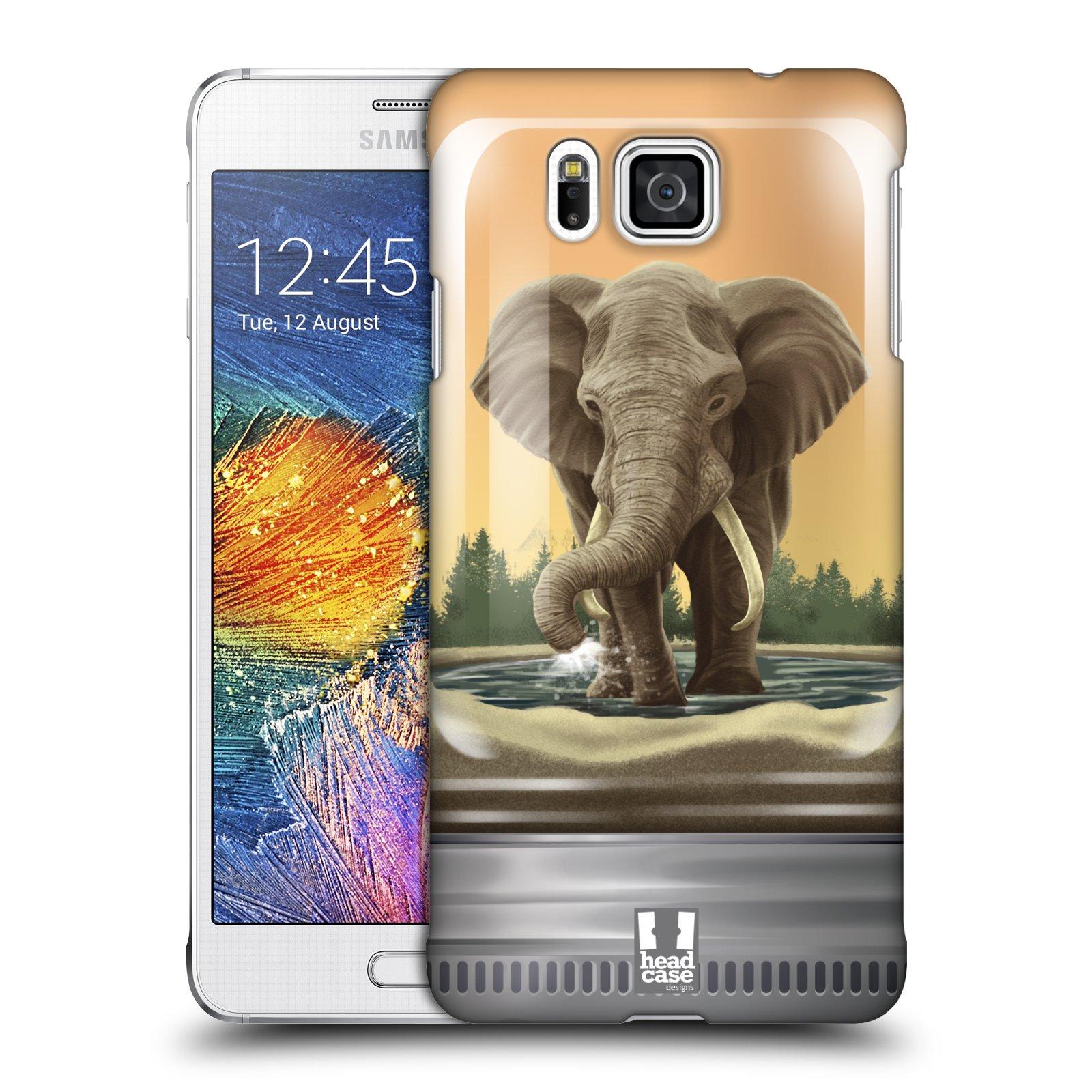 HEAD CASE plastový obal na mobil SAMSUNG Galaxy Alpha (G850) vzor Zvířátka v těžítku slon