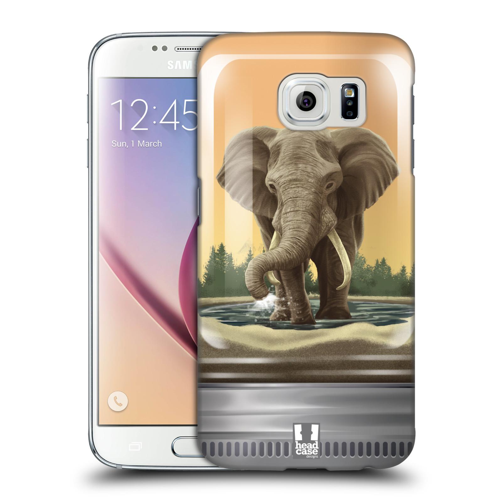 HEAD CASE plastový obal na mobil SAMSUNG Galaxy S6 (G9200, G920F) vzor Zvířátka v těžítku slon