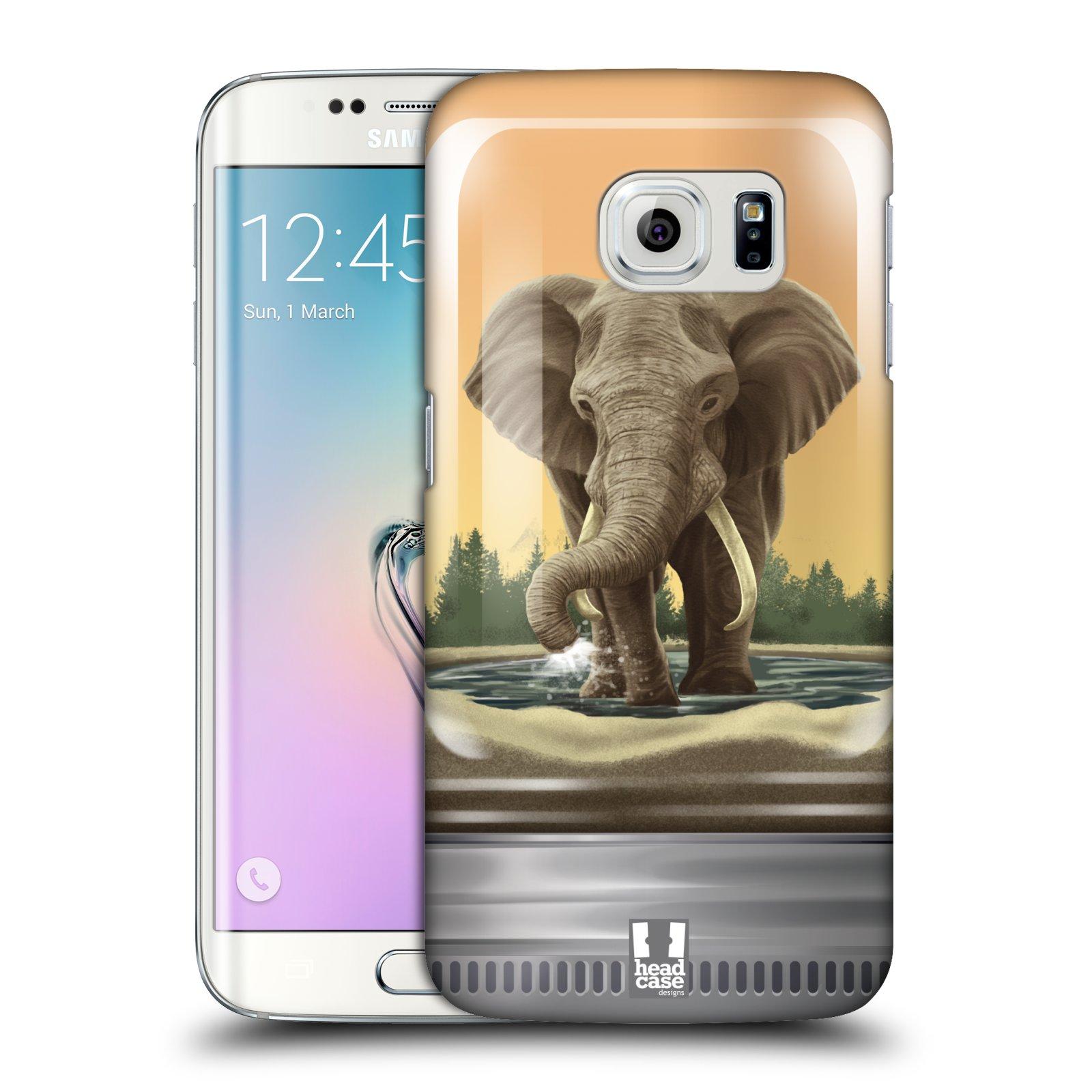 HEAD CASE plastový obal na mobil SAMSUNG Galaxy S6 EDGE (G9250, G925, G925F) vzor Zvířátka v těžítku slon
