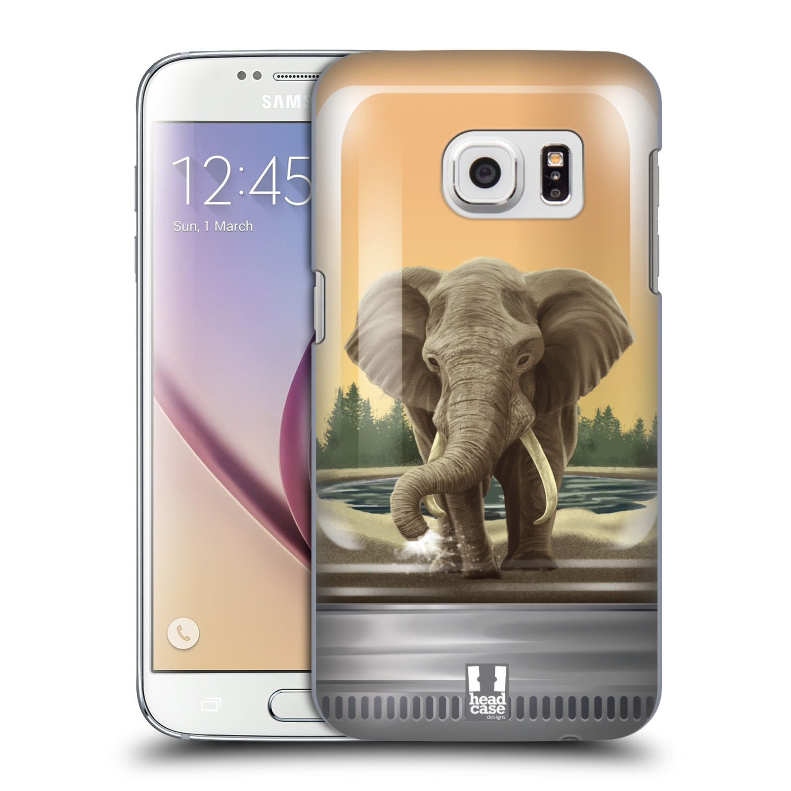 HEAD CASE plastový obal na mobil SAMSUNG GALAXY S7 vzor Zvířátka v těžítku slon