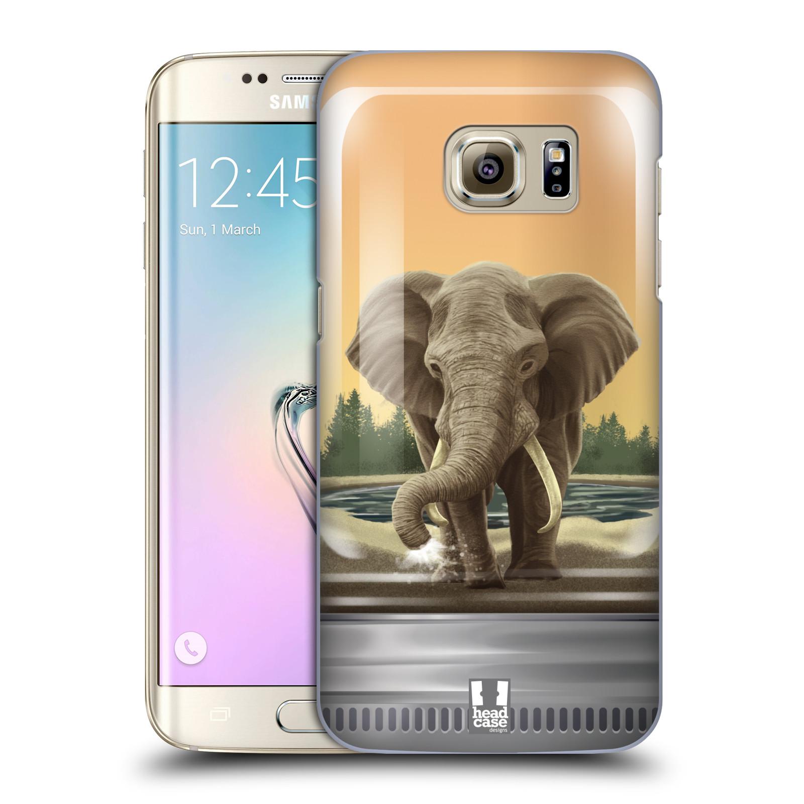 HEAD CASE plastový obal na mobil SAMSUNG GALAXY S7 EDGE vzor Zvířátka v těžítku slon