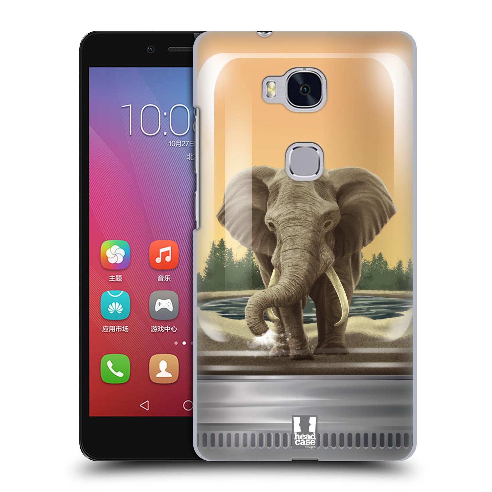 HEAD CASE pevný plastový obal na mobil HUAWEI HONOR 5X vzor Zvířátka v těžítku slon