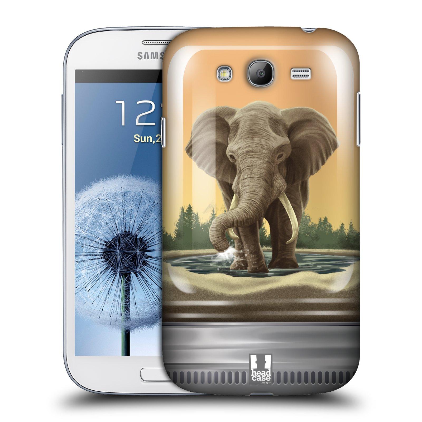 HEAD CASE plastový obal na mobil SAMSUNG GALAXY Grand i9080 vzor Zvířátka v těžítku slon