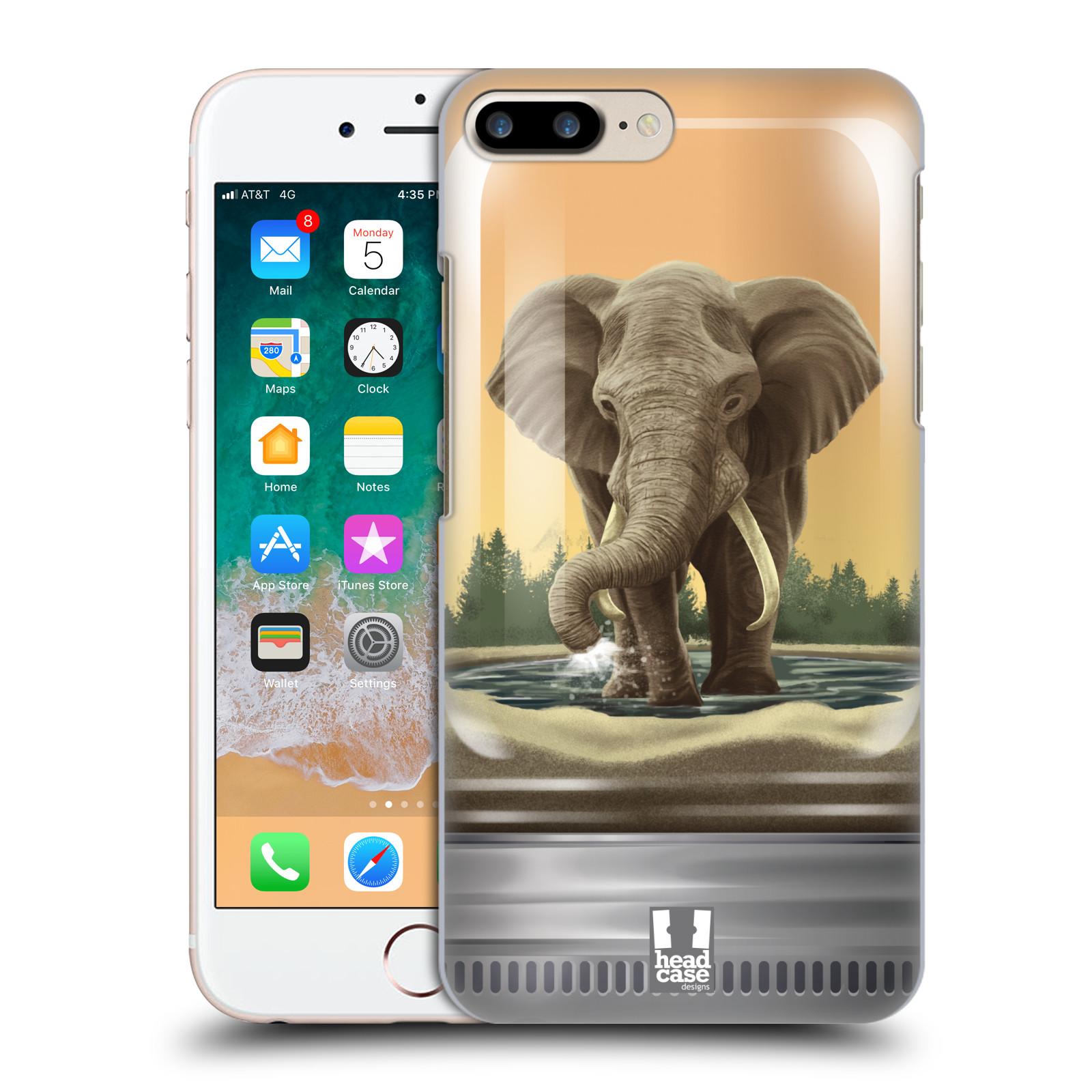HEAD CASE plastový obal na mobil Apple Iphone 7 PLUS vzor Zvířátka v těžítku slon