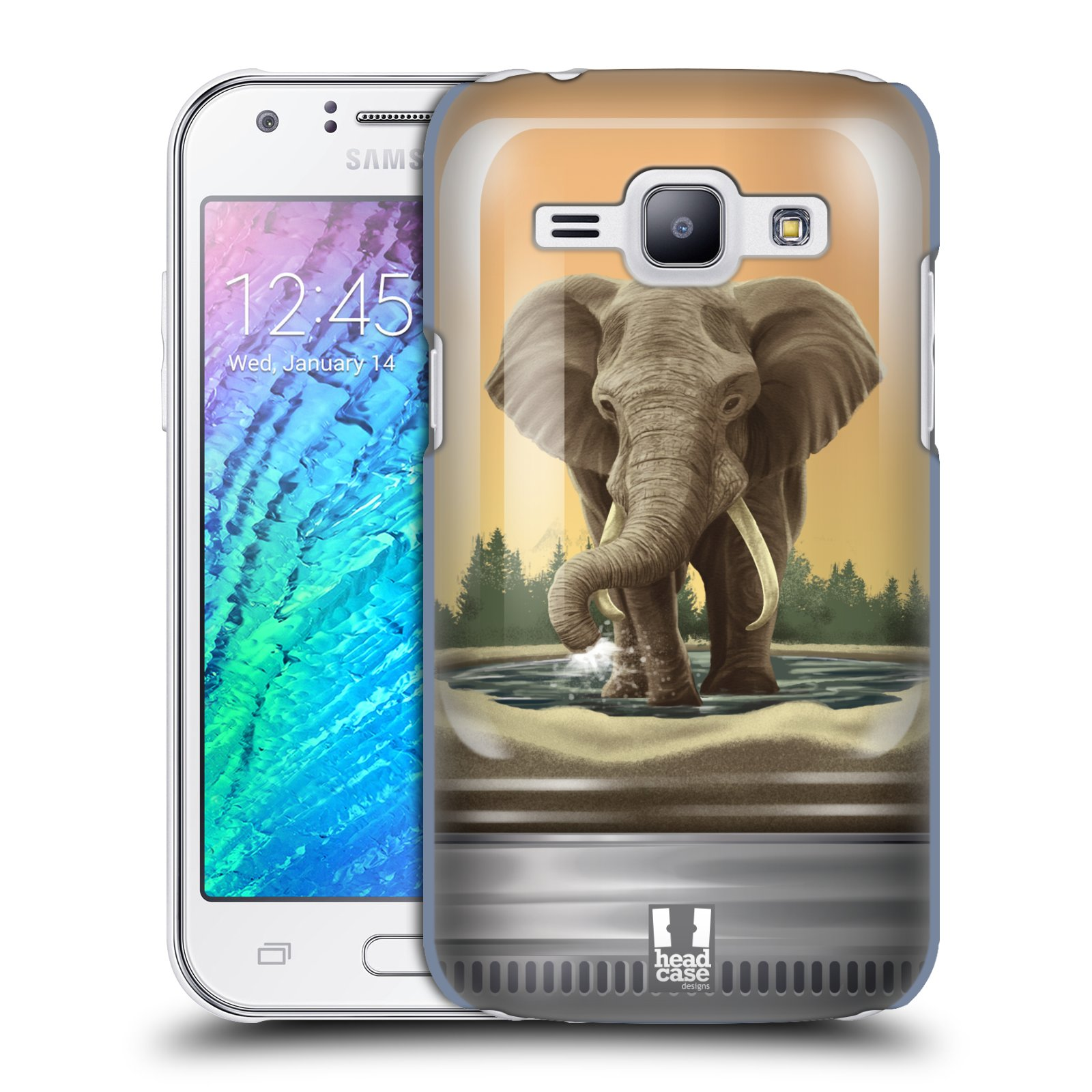 HEAD CASE plastový obal na mobil SAMSUNG Galaxy J1, J100 vzor Zvířátka v těžítku slon