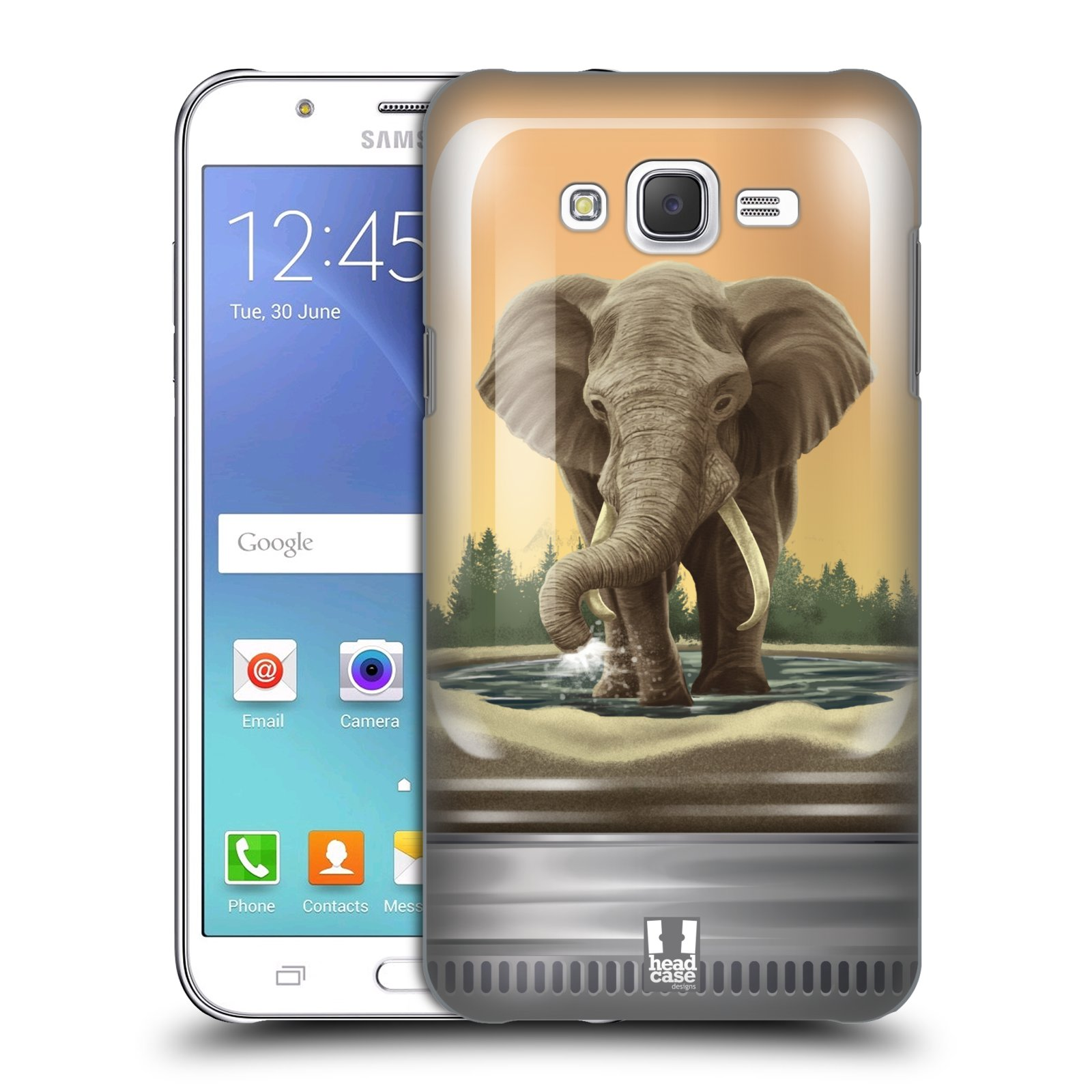 HEAD CASE plastový obal na mobil SAMSUNG Galaxy J7, J700 vzor Zvířátka v těžítku slon