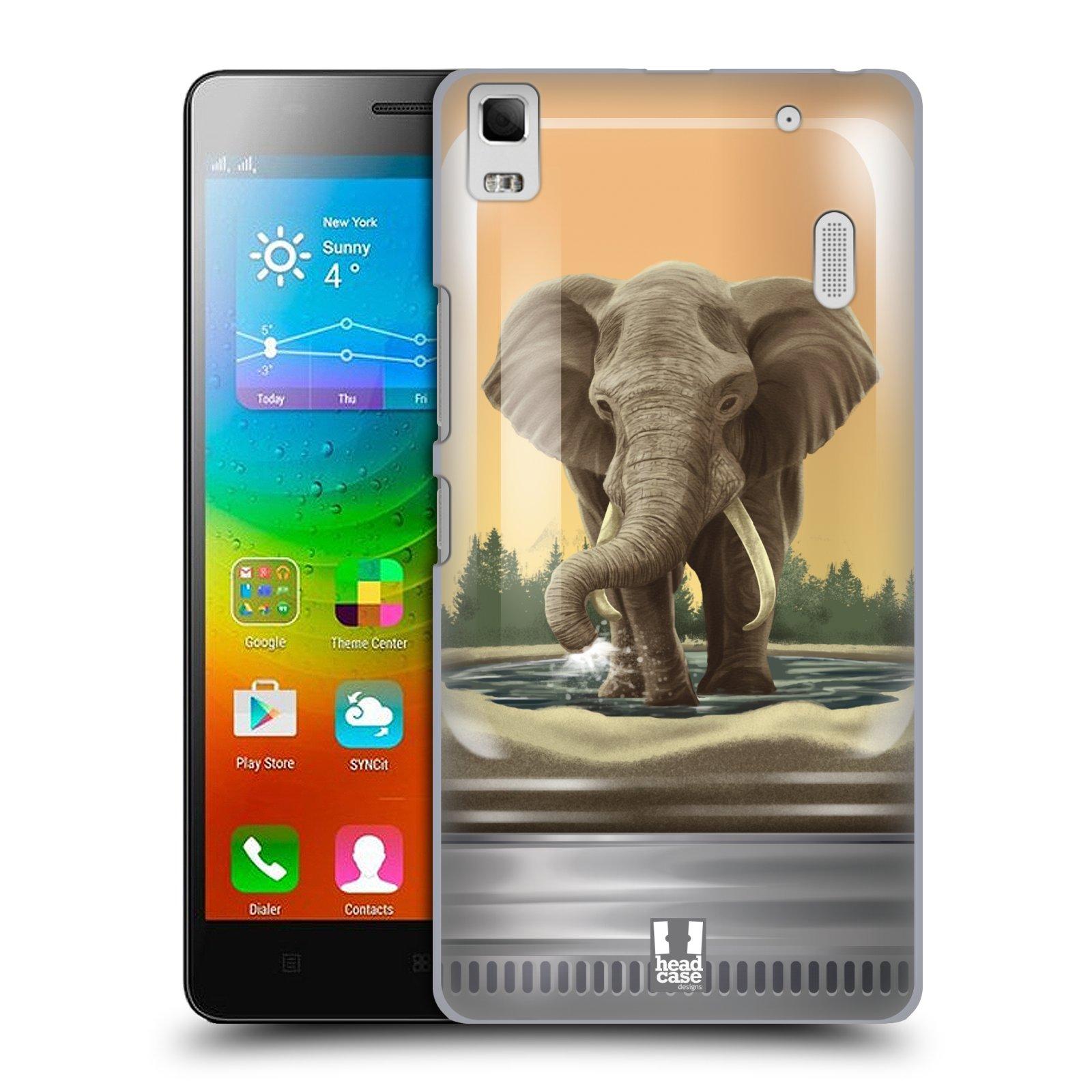HEAD CASE pevný plastový obal na mobil LENOVO A7000 / A7000 DUAL / K3 NOTE vzor Zvířátka v těžítku slon