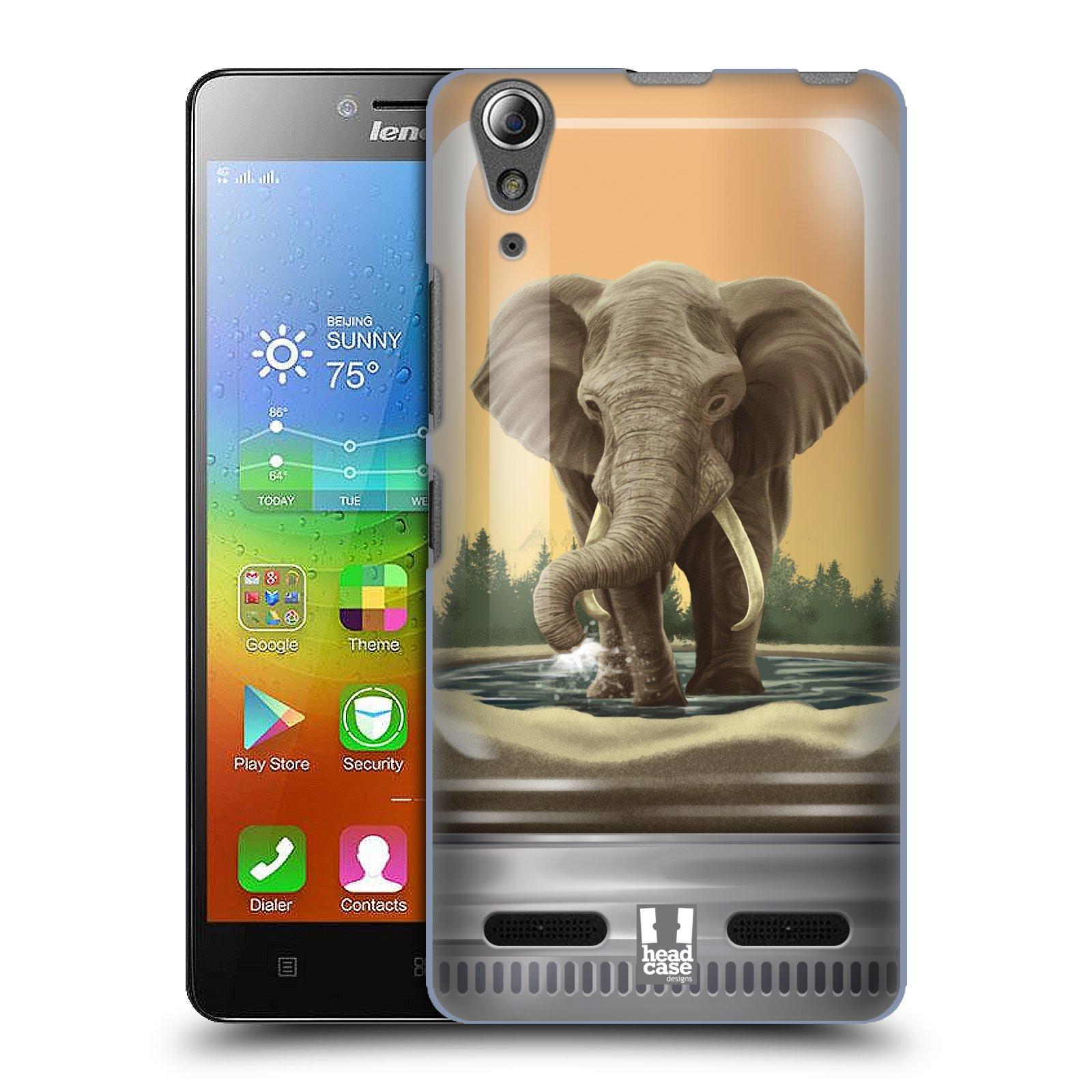 HEAD CASE pevný plastový obal na mobil LENOVO A6000 / A6000 PLUS vzor Zvířátka v těžítku slon