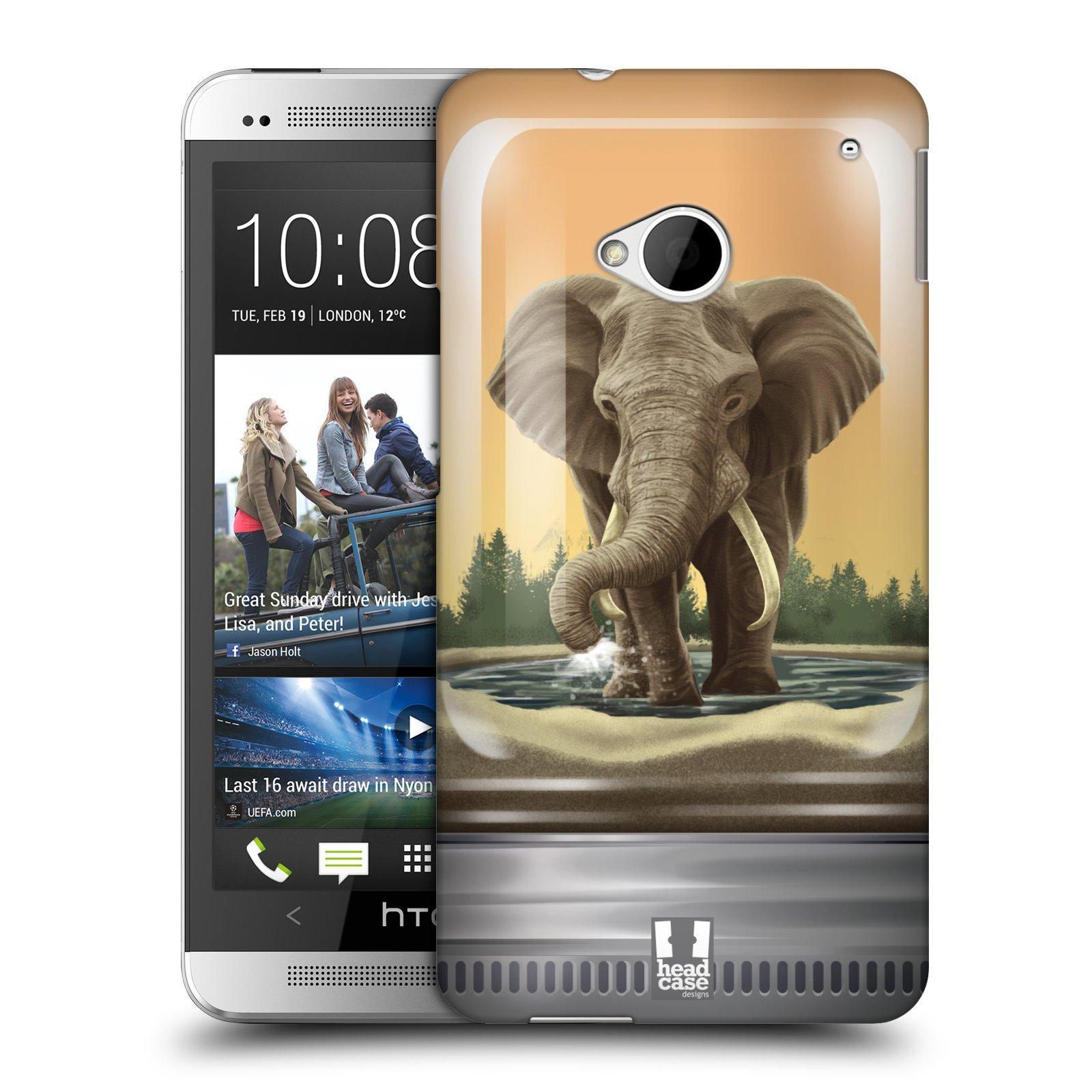 HEAD CASE plastový obal na mobil HTC One (M7) vzor Zvířátka v těžítku slon