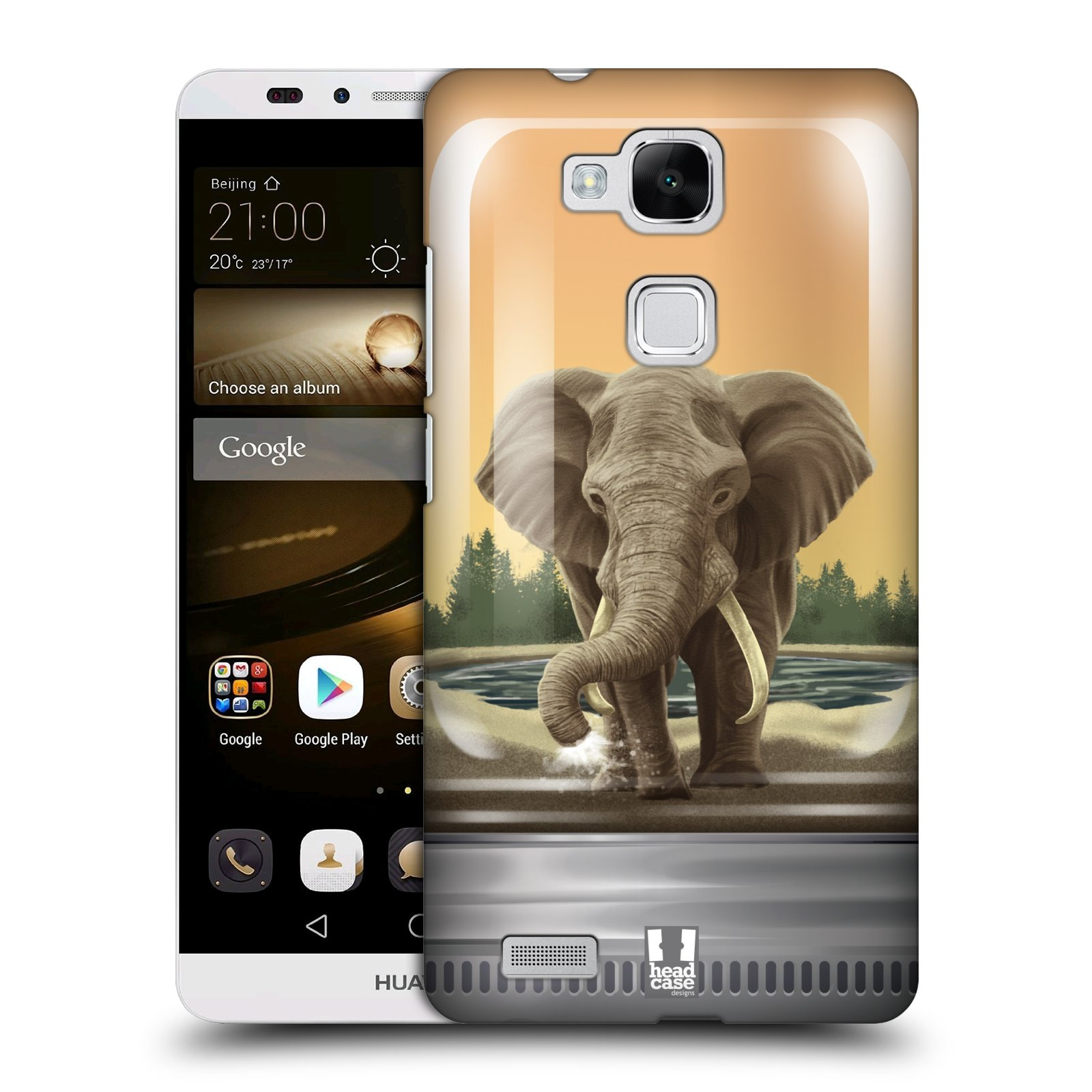 HEAD CASE plastový obal na mobil Huawei Mate 7 vzor Zvířátka v těžítku slon
