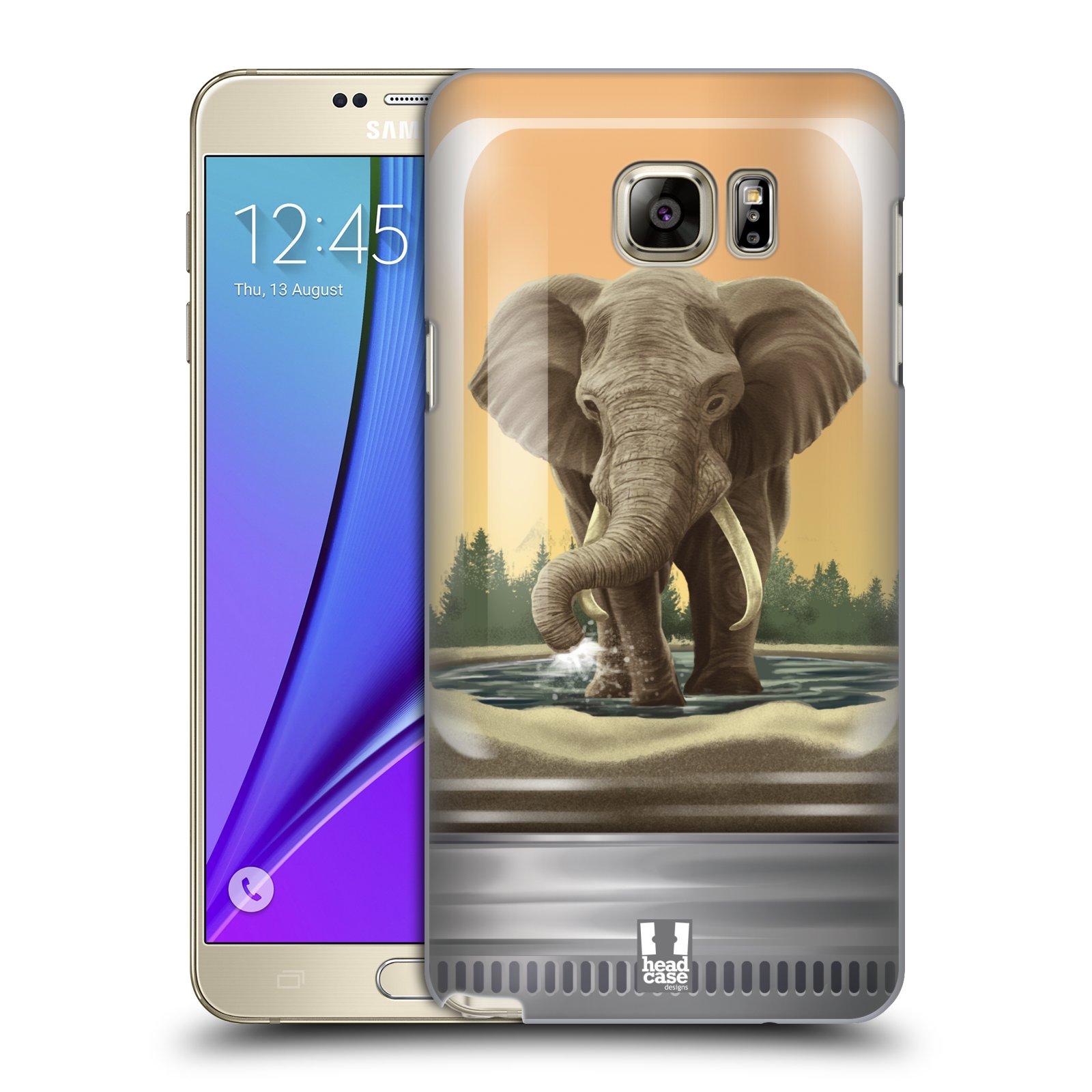HEAD CASE plastový obal na mobil SAMSUNG Galaxy Note 5 (N920) vzor Zvířátka v těžítku slon