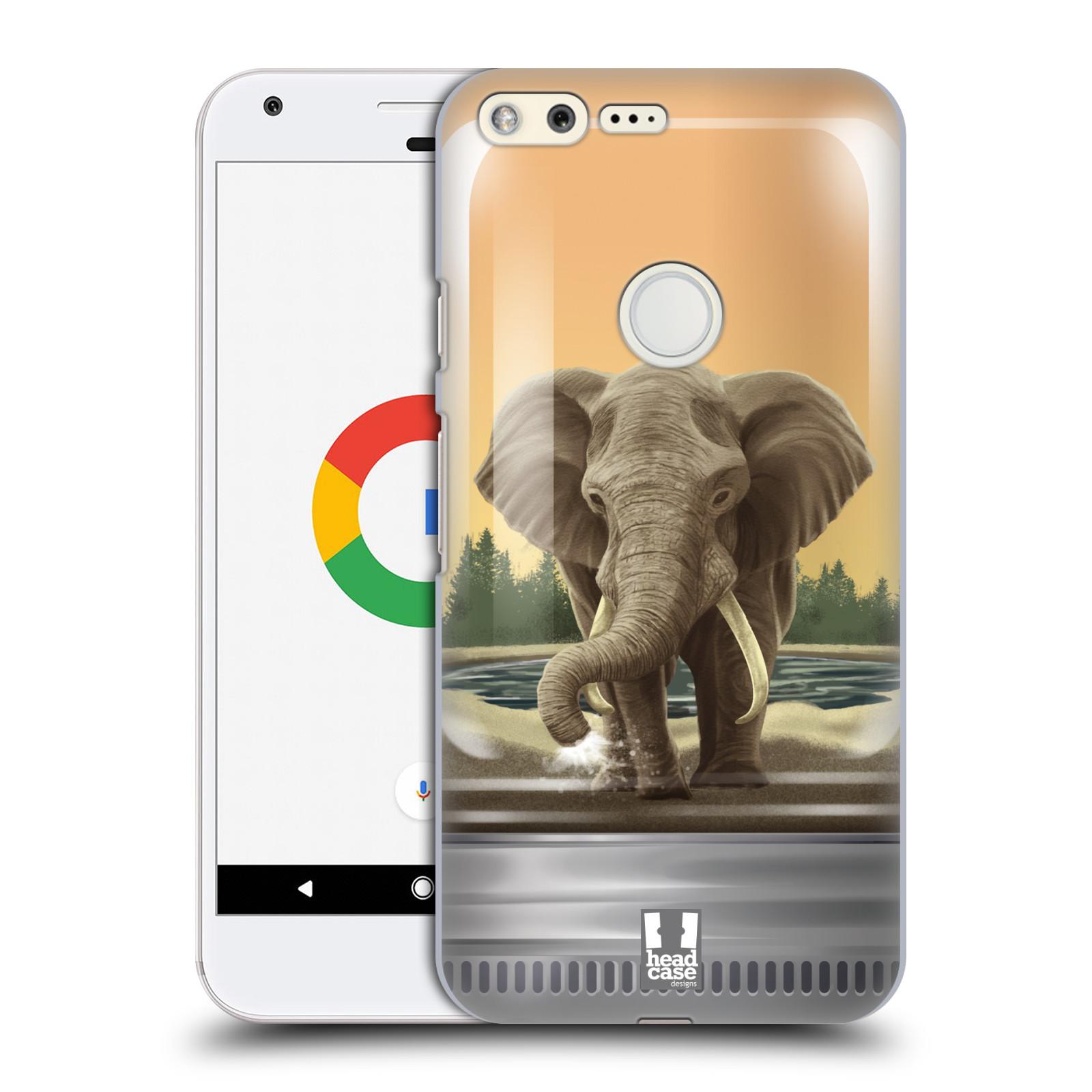 HEAD CASE plastový obal na mobil GOOGLE Pixel vzor Zvířátka v těžítku slon