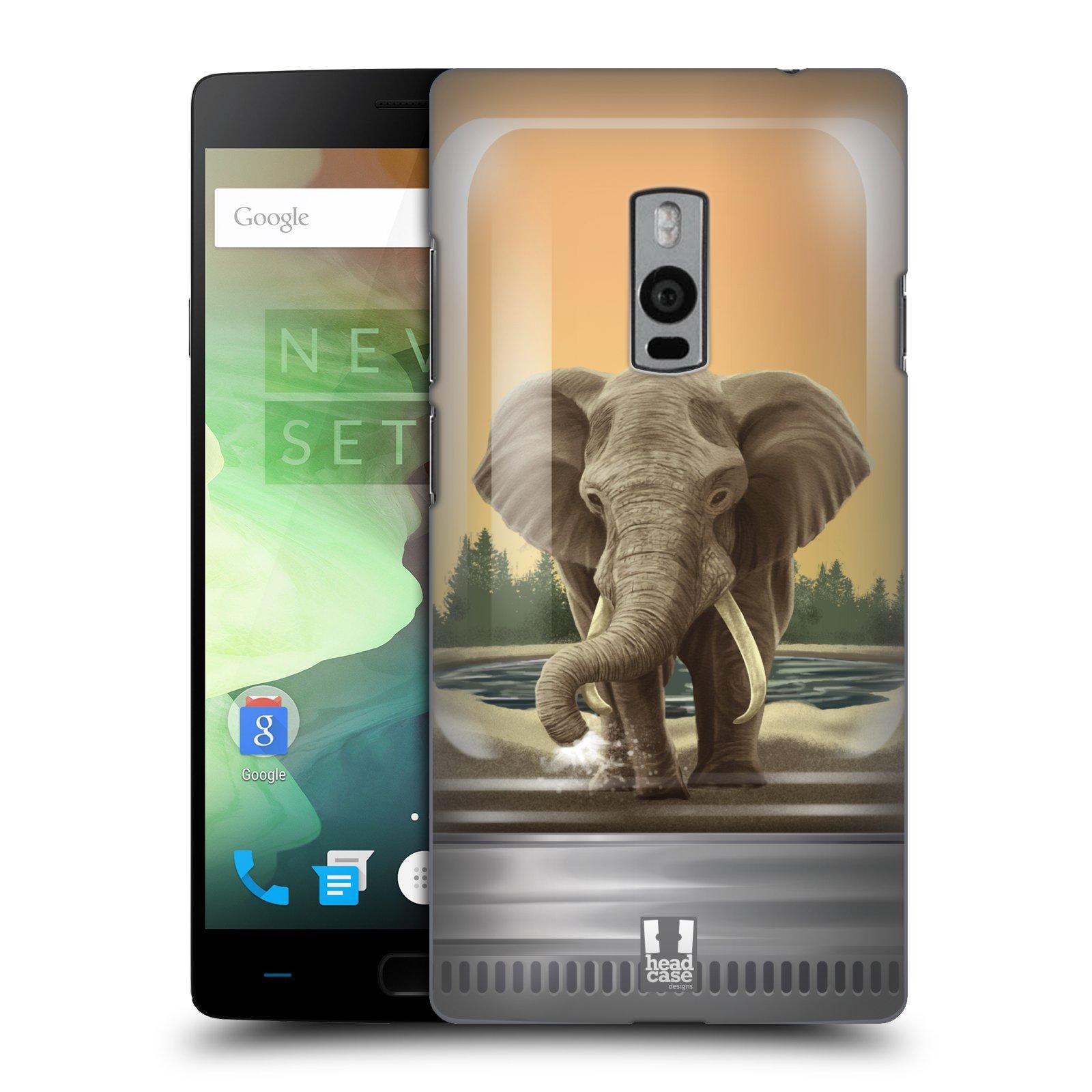 HEAD CASE pevný plastový obal na mobil OnePlus 2  ( TWO ) vzor Zvířátka v těžítku slon