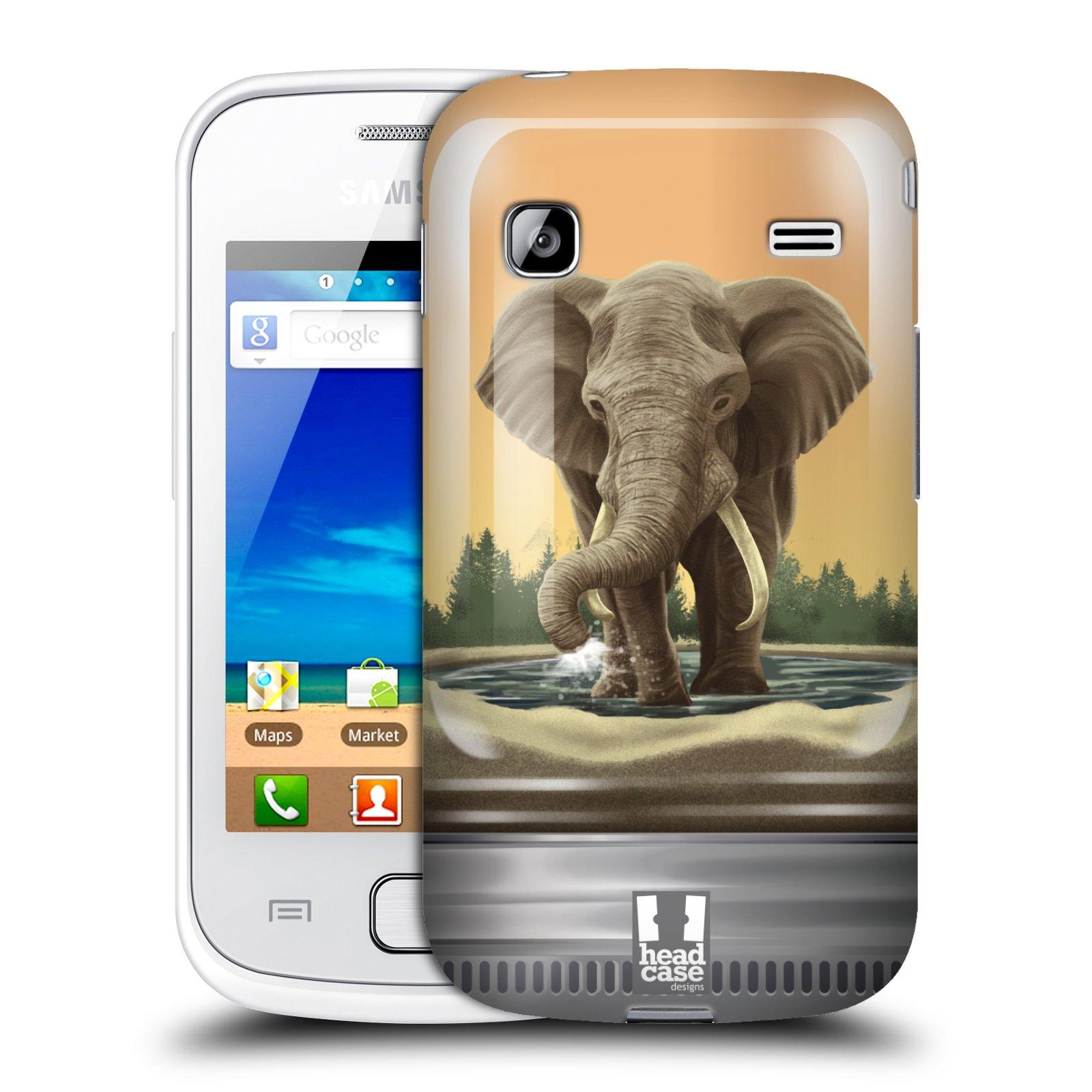 HEAD CASE plastový obal na mobil SAMSUNG GALAXY GIO (S5660) vzor Zvířátka v těžítku slon