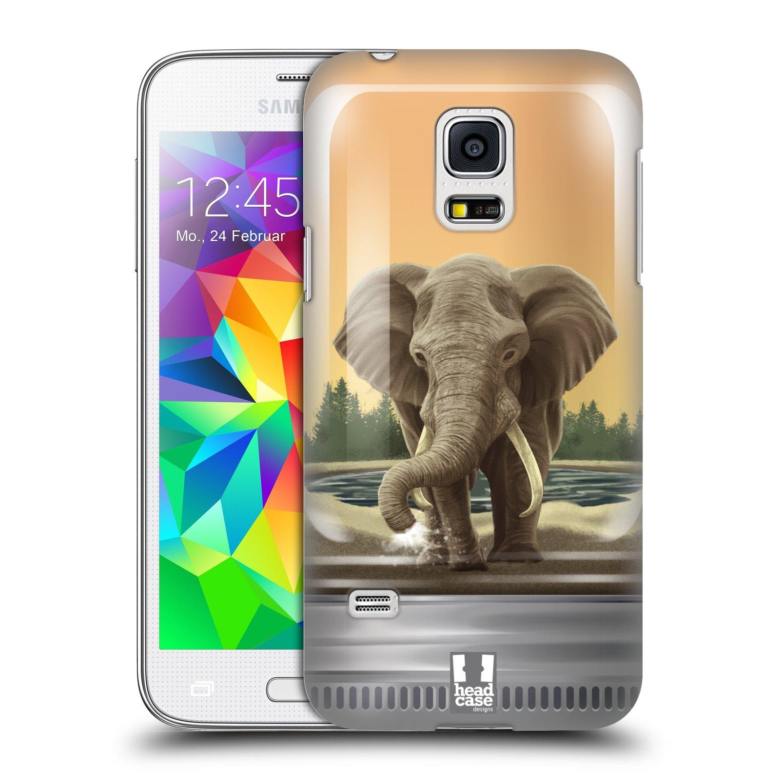 HEAD CASE plastový obal na mobil SAMSUNG Galaxy S5 MINI / S5 MINI DUOS vzor Zvířátka v těžítku slon