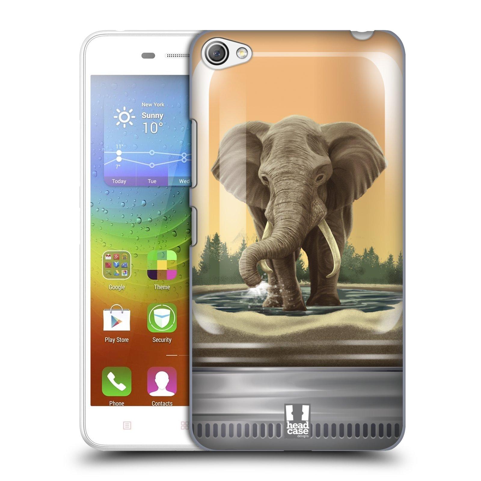 HEAD CASE pevný plastový obal na mobil LENOVO S60 / LENOVO S60 DUAL SIM vzor Zvířátka v těžítku slon