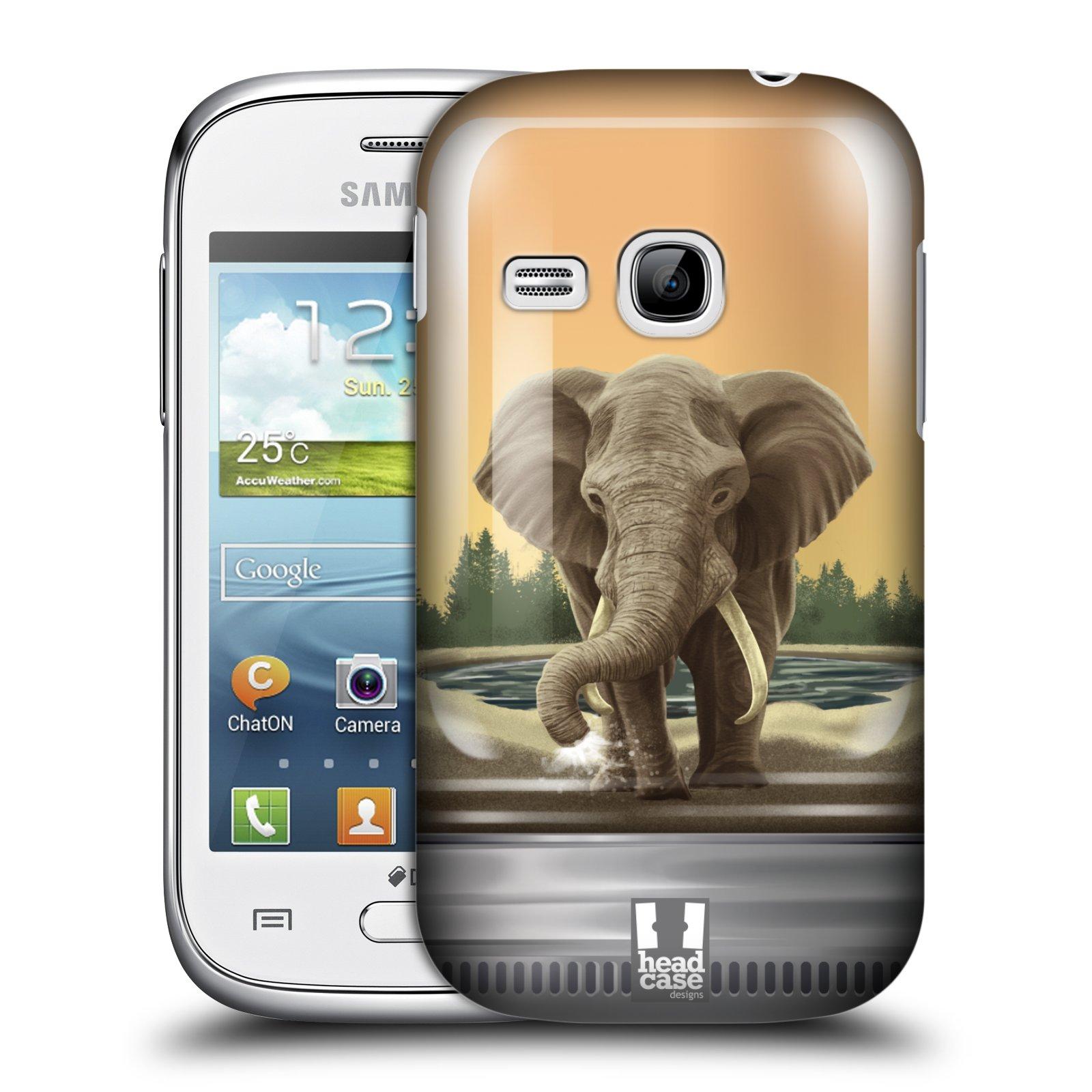 HEAD CASE plastový obal na mobil SAMSUNG Galaxy Young S6310 vzor Zvířátka v těžítku slon