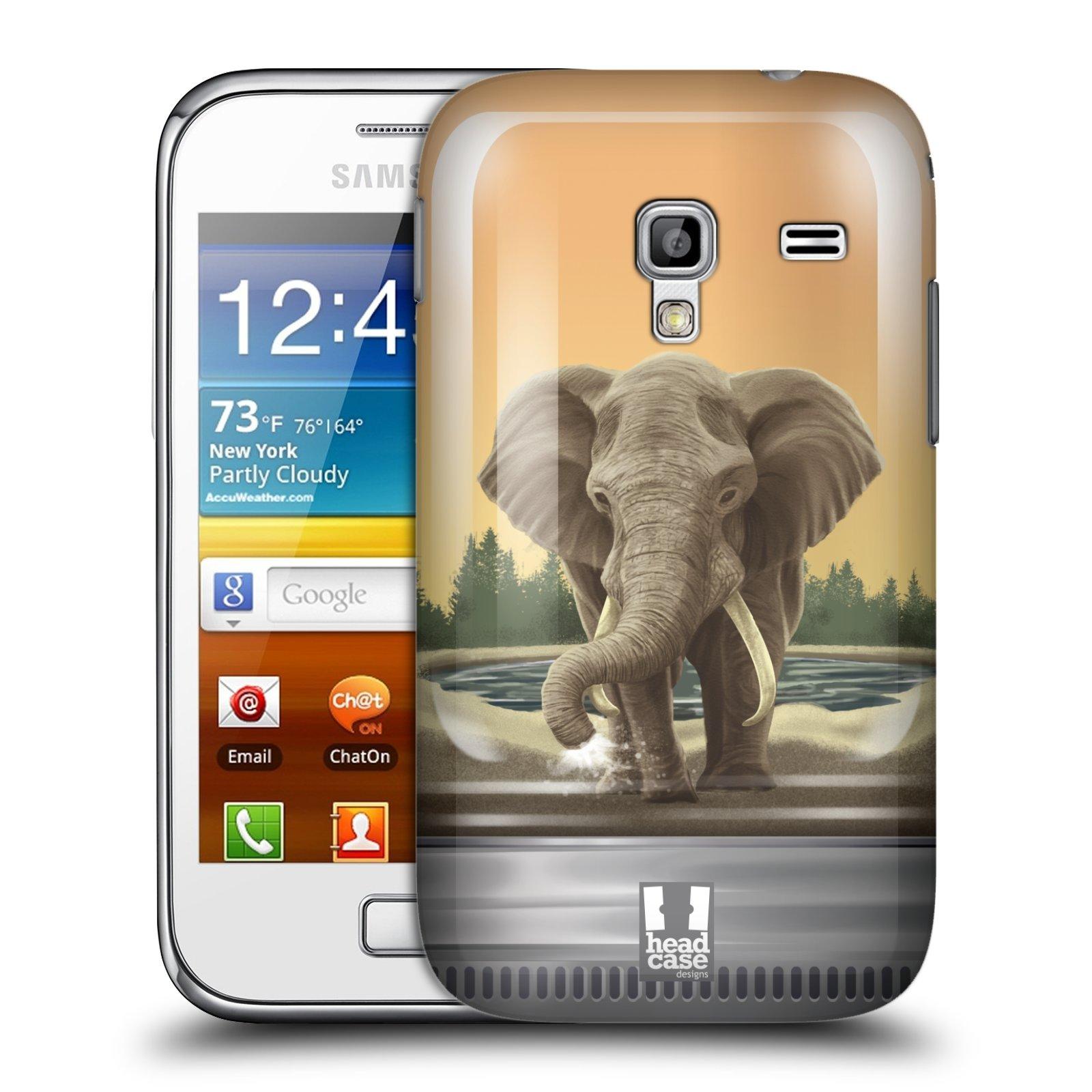 HEAD CASE plastový obal na mobil SAMSUNG GALAXY ACE PLUS (S7500) vzor Zvířátka v těžítku slon