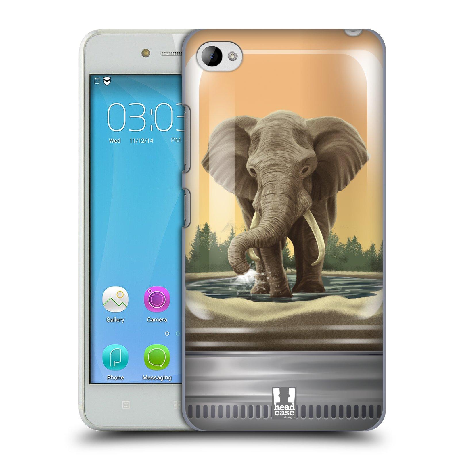HEAD CASE pevný plastový obal na mobil LENOVO S90 vzor Zvířátka v těžítku slon