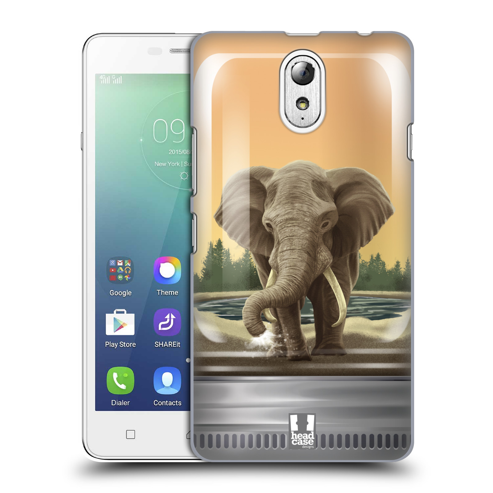 HEAD CASE pevný plastový obal na mobil LENOVO VIBE P1m / LENOVO VIBE p1m DUAL SIM vzor Zvířátka v těžítku slon